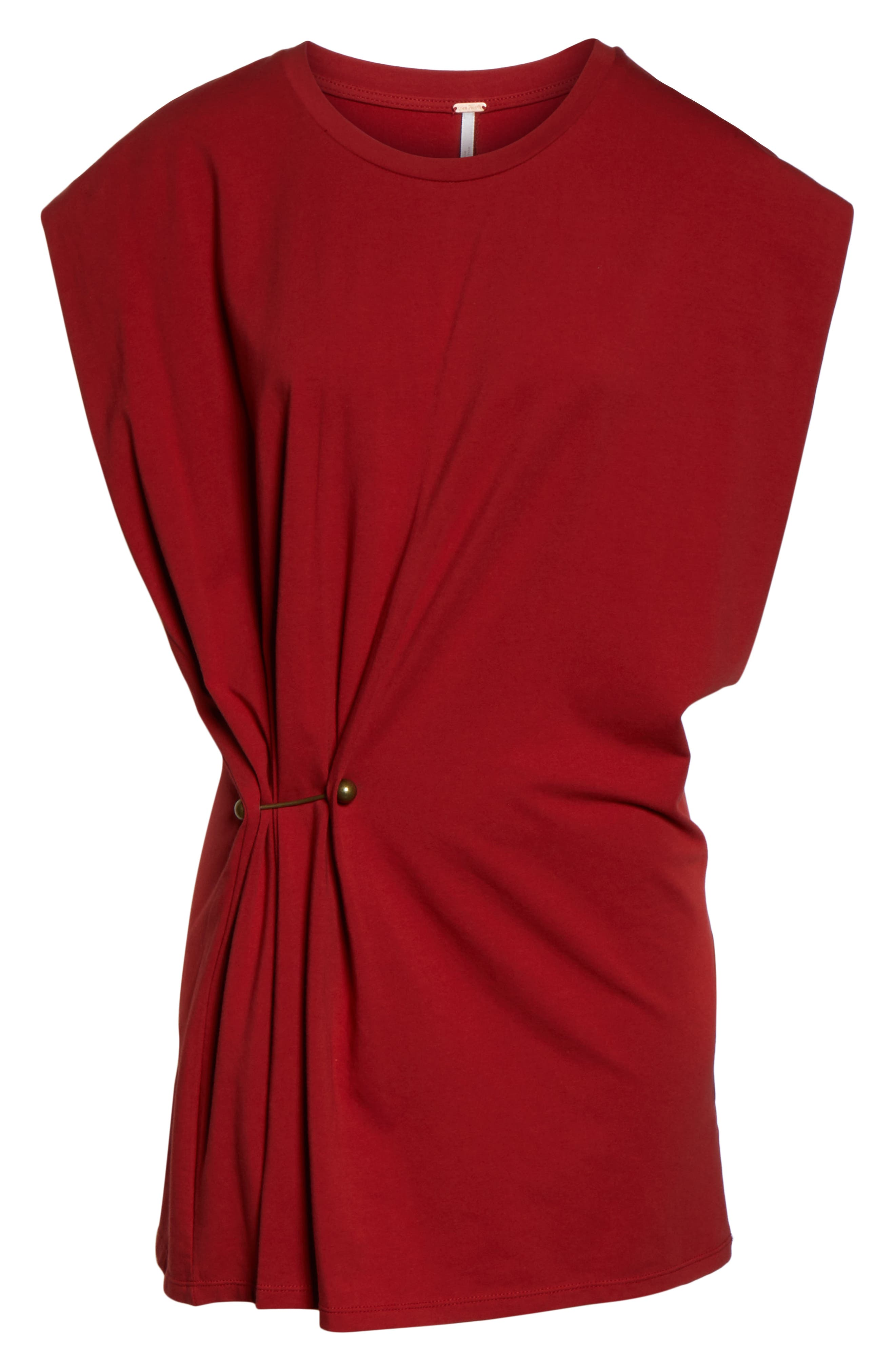 FREE PEOPLE, Bianca Shift Dress, Alternate thumbnail 6, color, RED