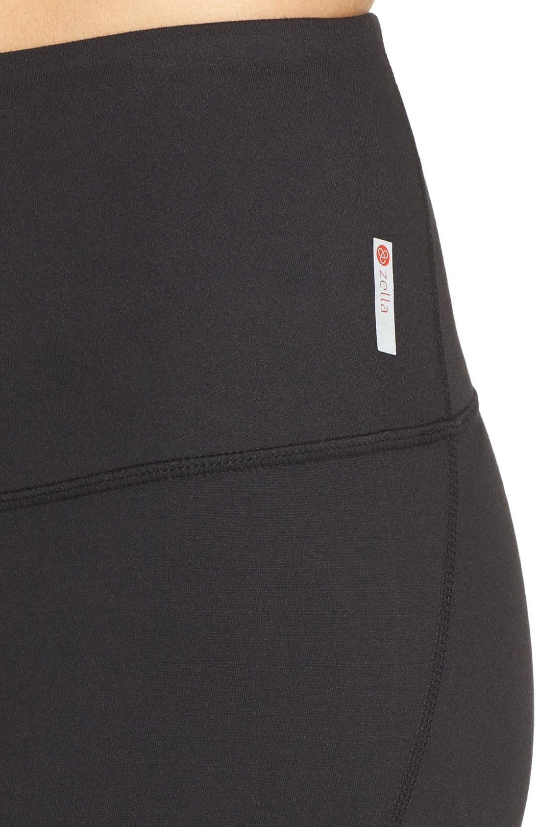 ZELLA, Barely Flare Live in High Waist Pants, Alternate thumbnail 6, color, BLACK