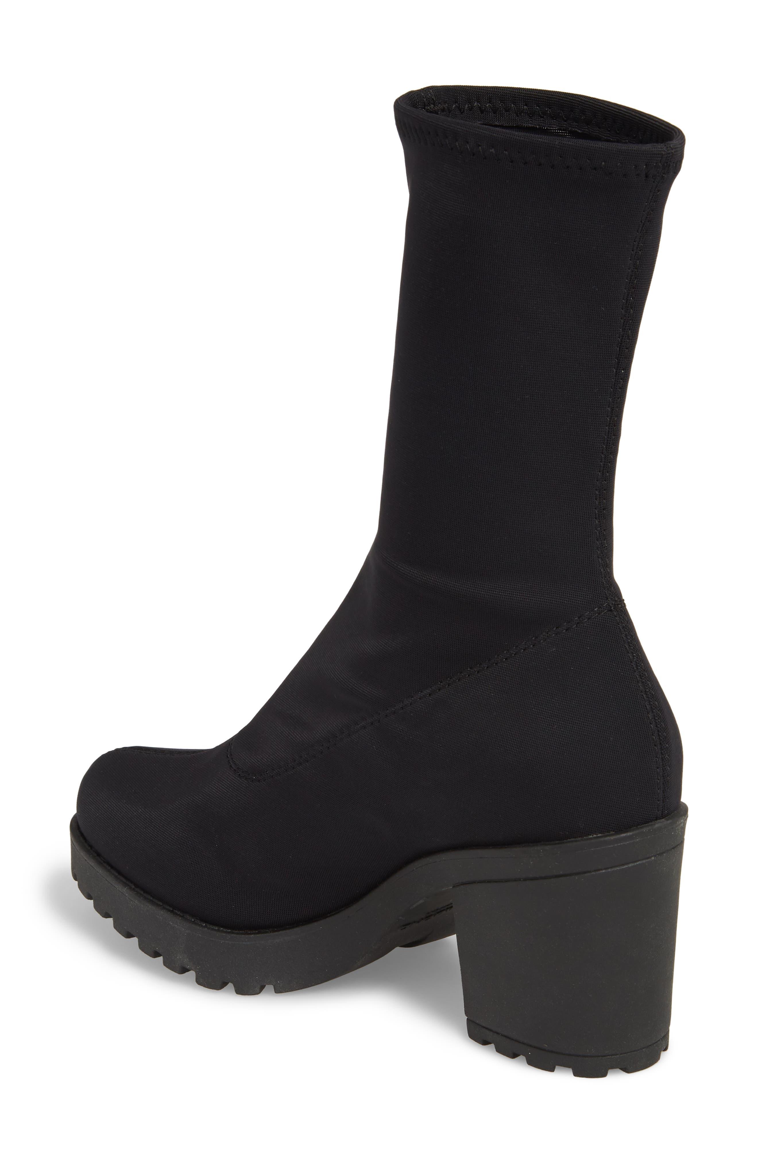 VAGABOND, Shoemakers Grace Platform Bootie, Alternate thumbnail 2, color, BLACK FABRIC