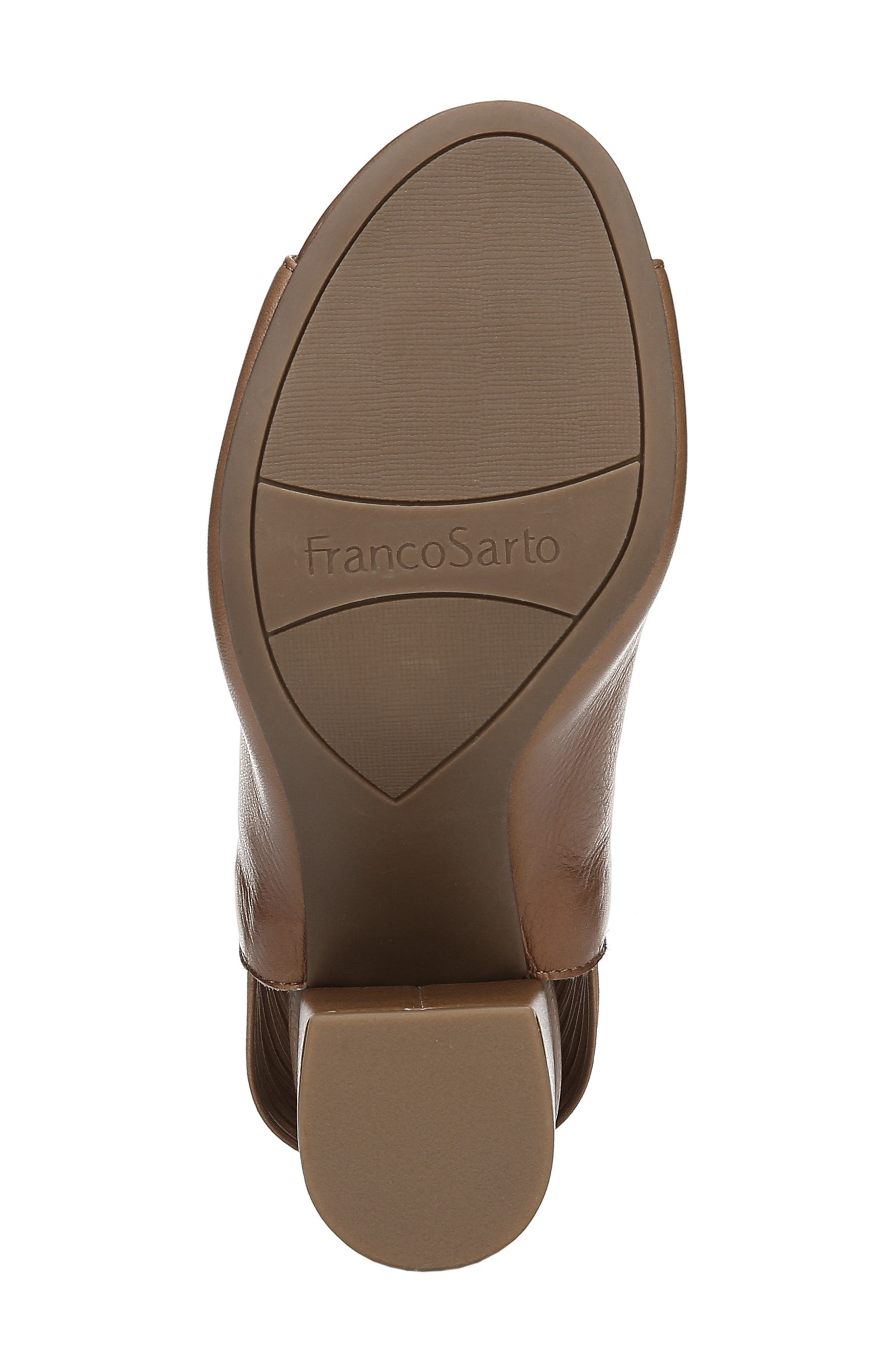 FRANCO SARTO, Opaline Corded Slingback Sandal, Alternate thumbnail 6, color, LIGHT BROWN LEATHER
