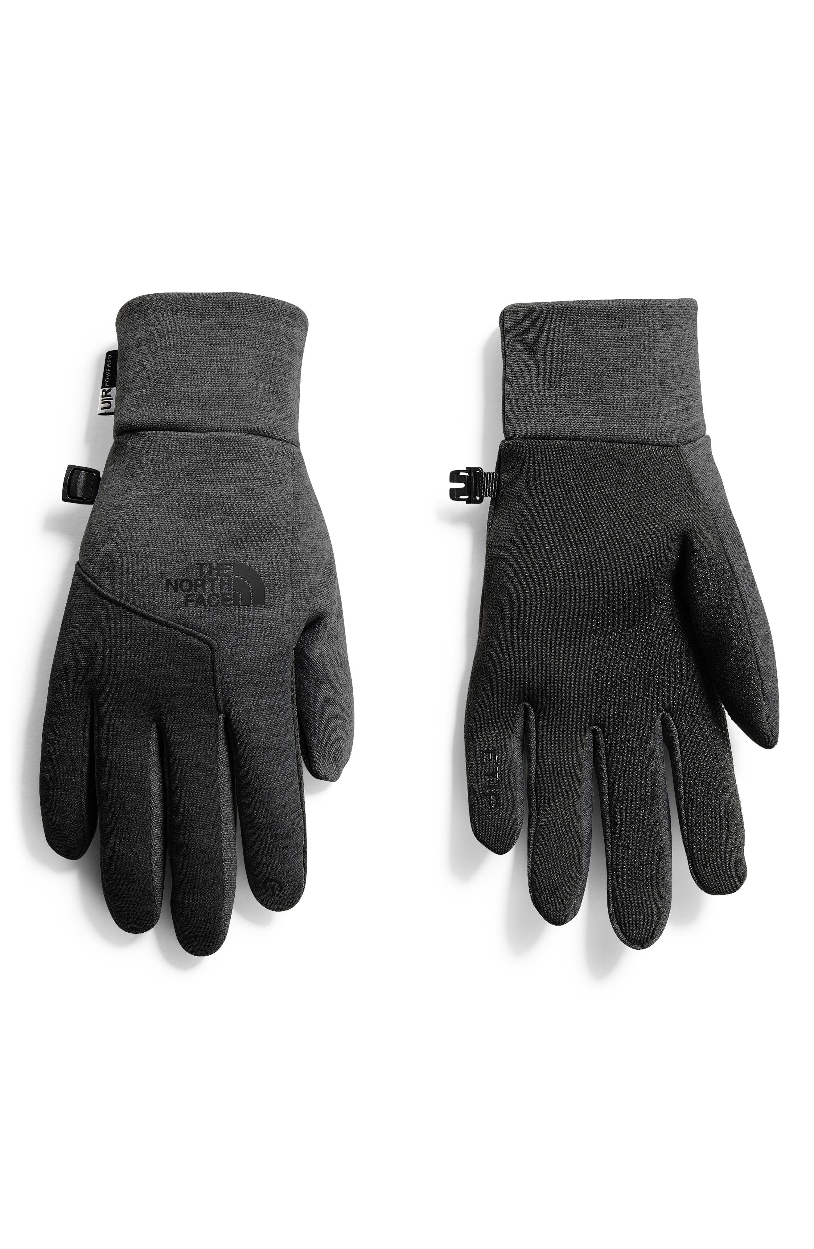 THE NORTH FACE, Etip Gloves, Main thumbnail 1, color, BLACK/ DARK GREY HEATHER