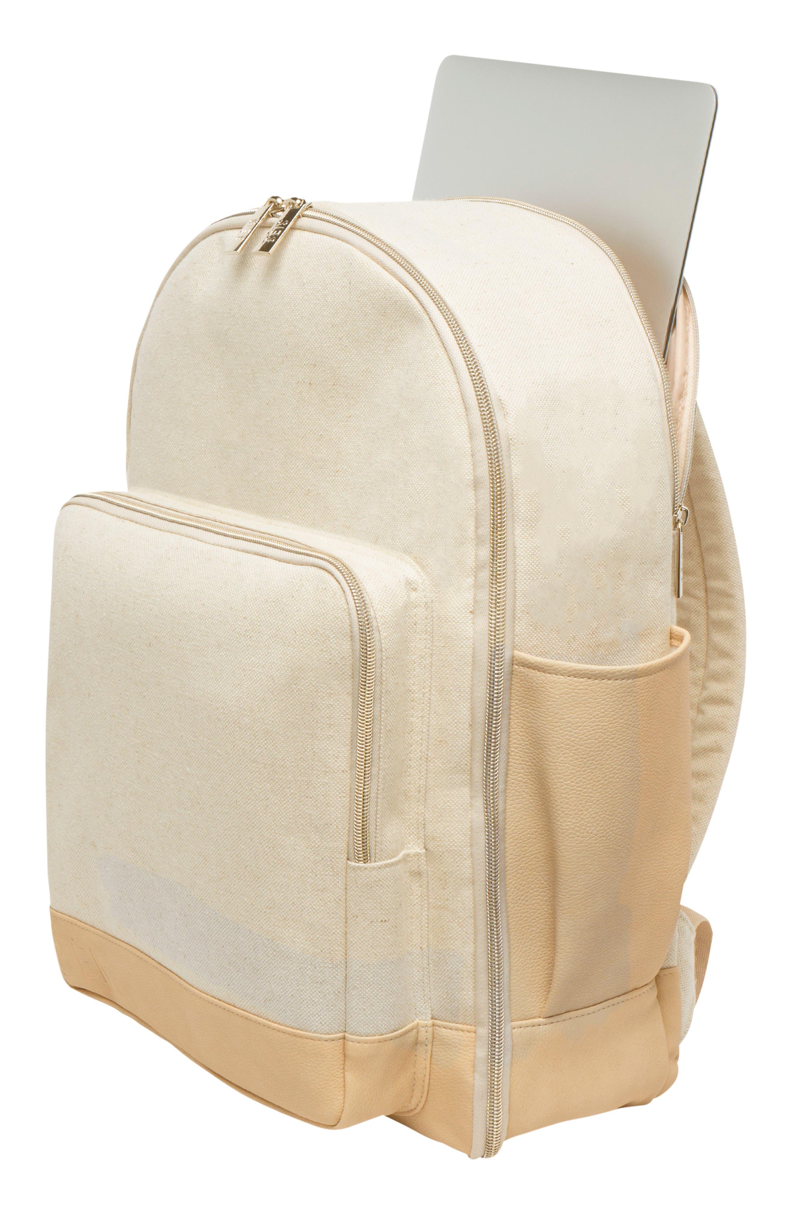 BÉIS, Travel Multi Function Travel Backpack, Alternate thumbnail 10, color, BEIGE