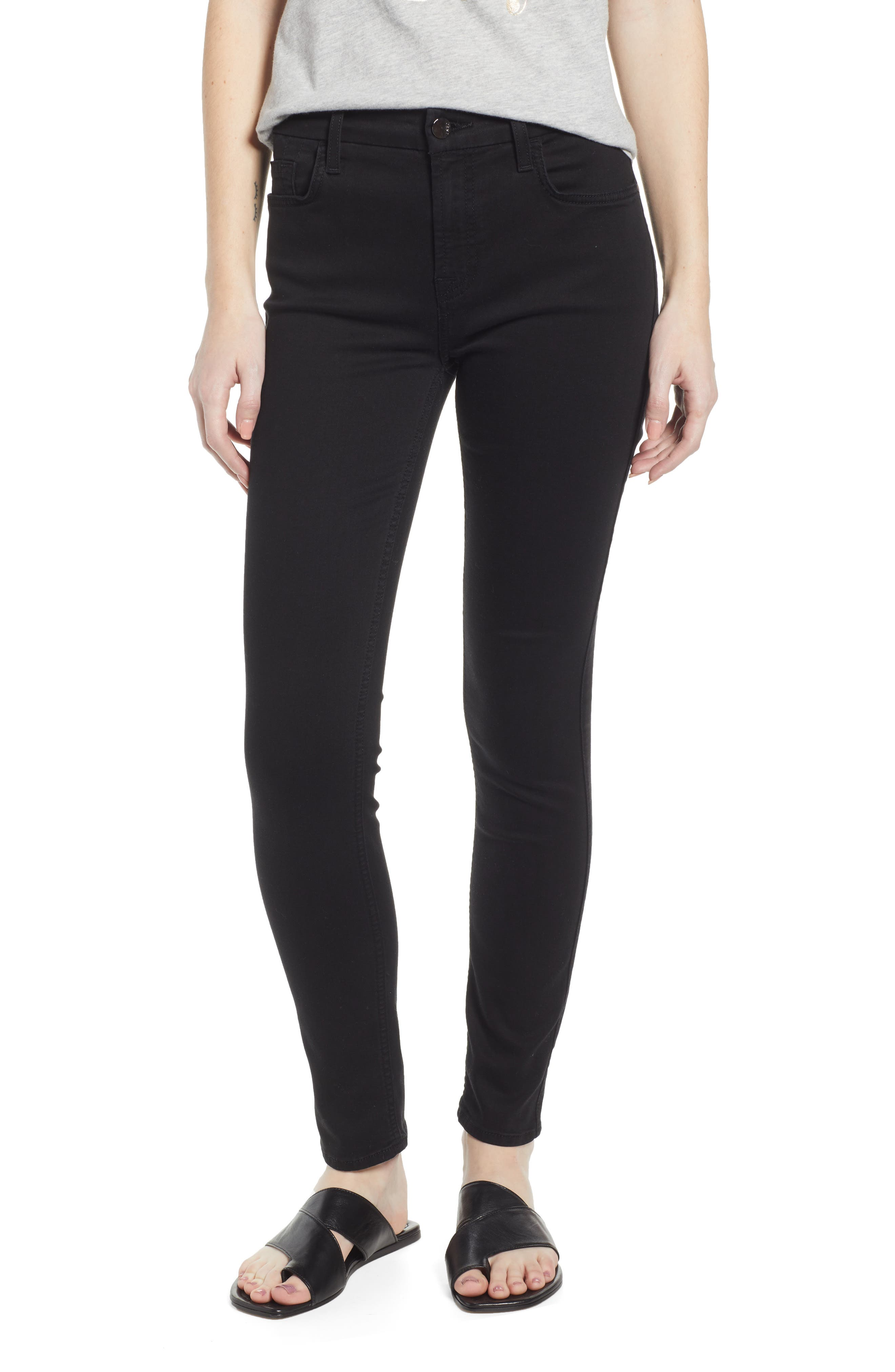 JEN7 BY 7 FOR ALL MANKIND, Skinny Jeans, Main thumbnail 1, color, CLASSIC BLACK NOIR