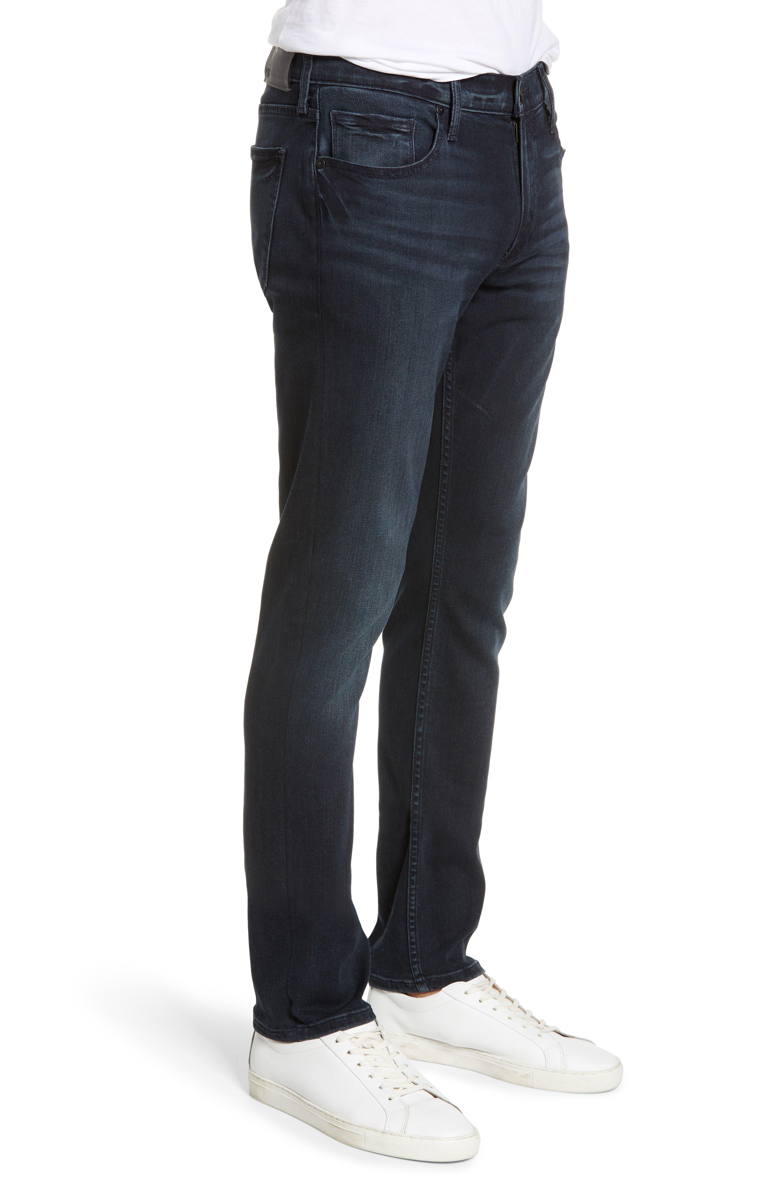PAIGE, Transcend - Lennox Slim Fit Jeans, Alternate thumbnail 4, color, HOLLAND