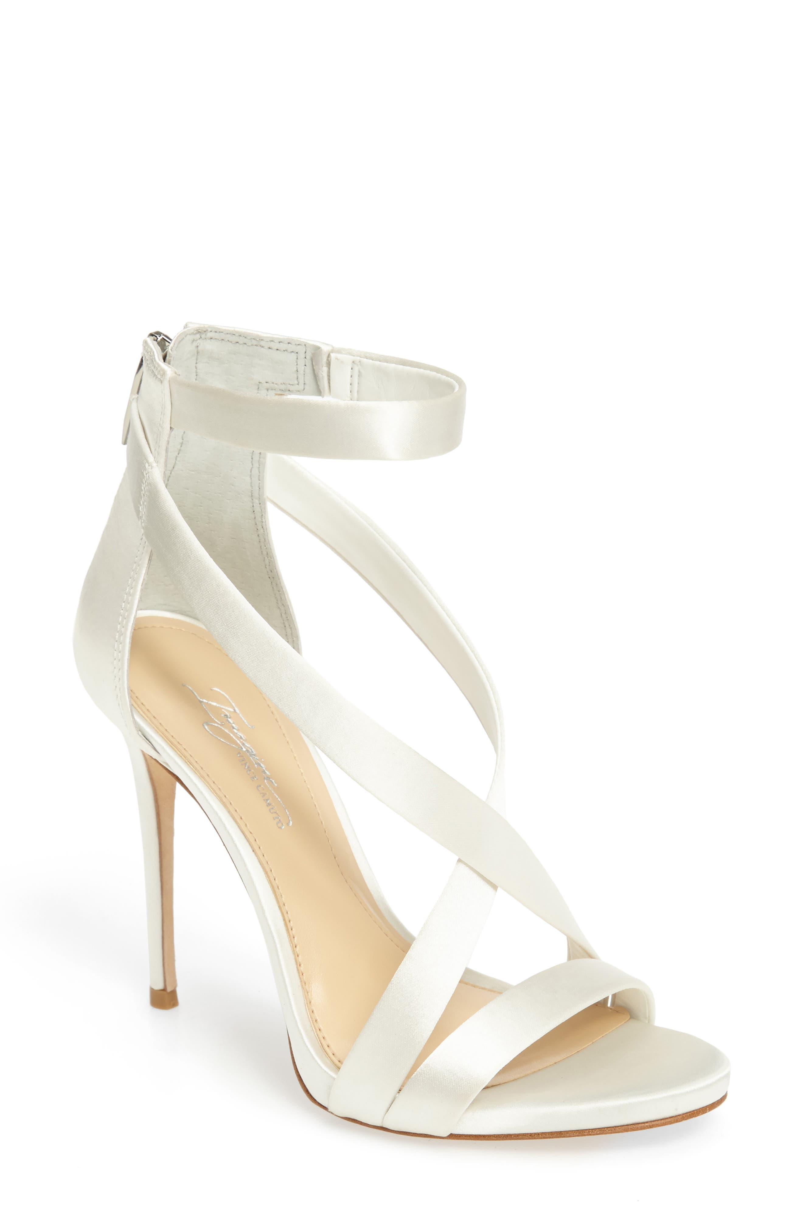 IMAGINE BY VINCE CAMUTO Imagine Vince Camuto 'Devin' Sandal, Main, color, PURE WHITE SATIN