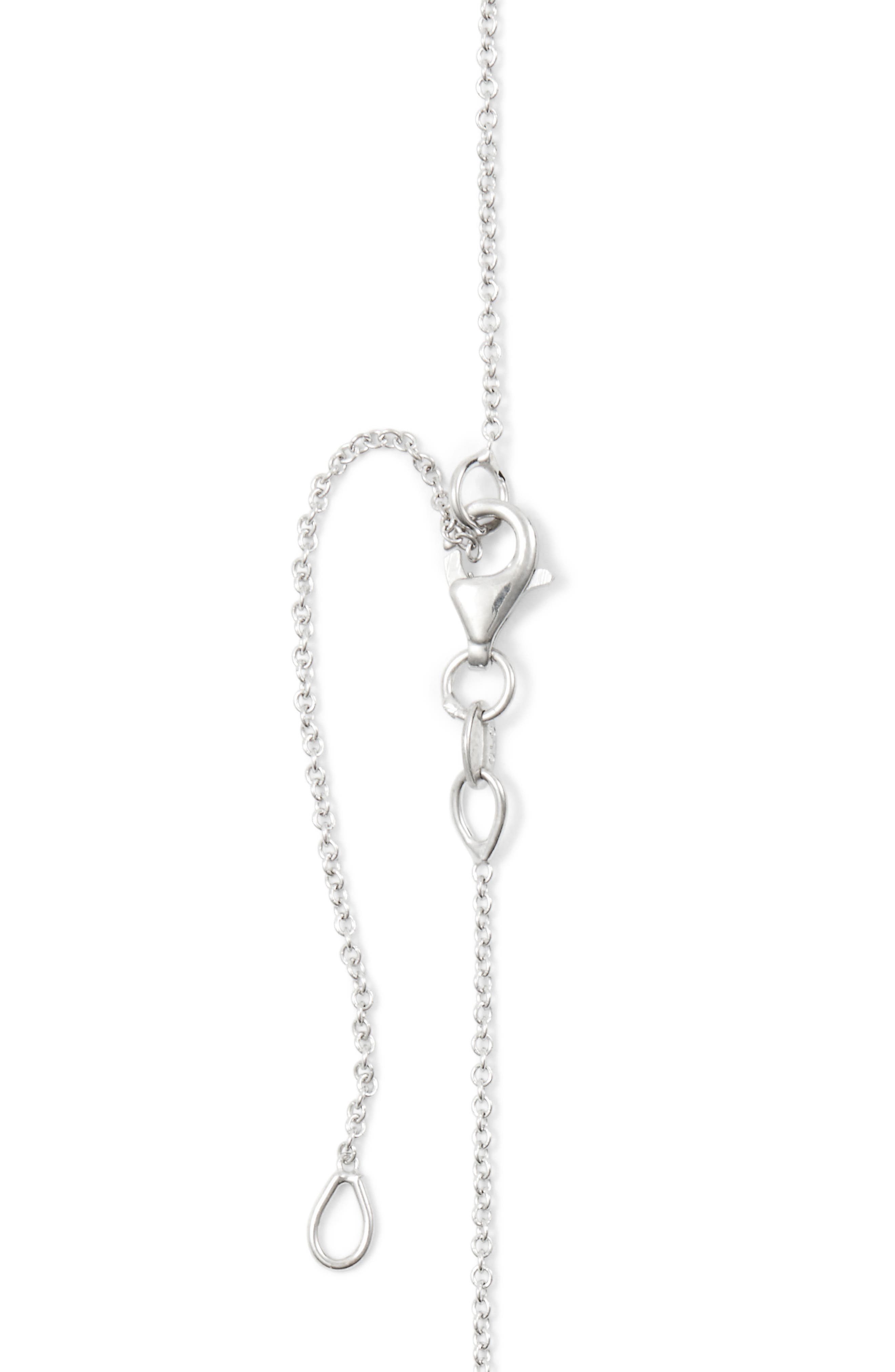 BONY LEVY, 18k Gold Pavé Diamond Initial Pendant Necklace, Alternate thumbnail 4, color, WHITE GOLD - A