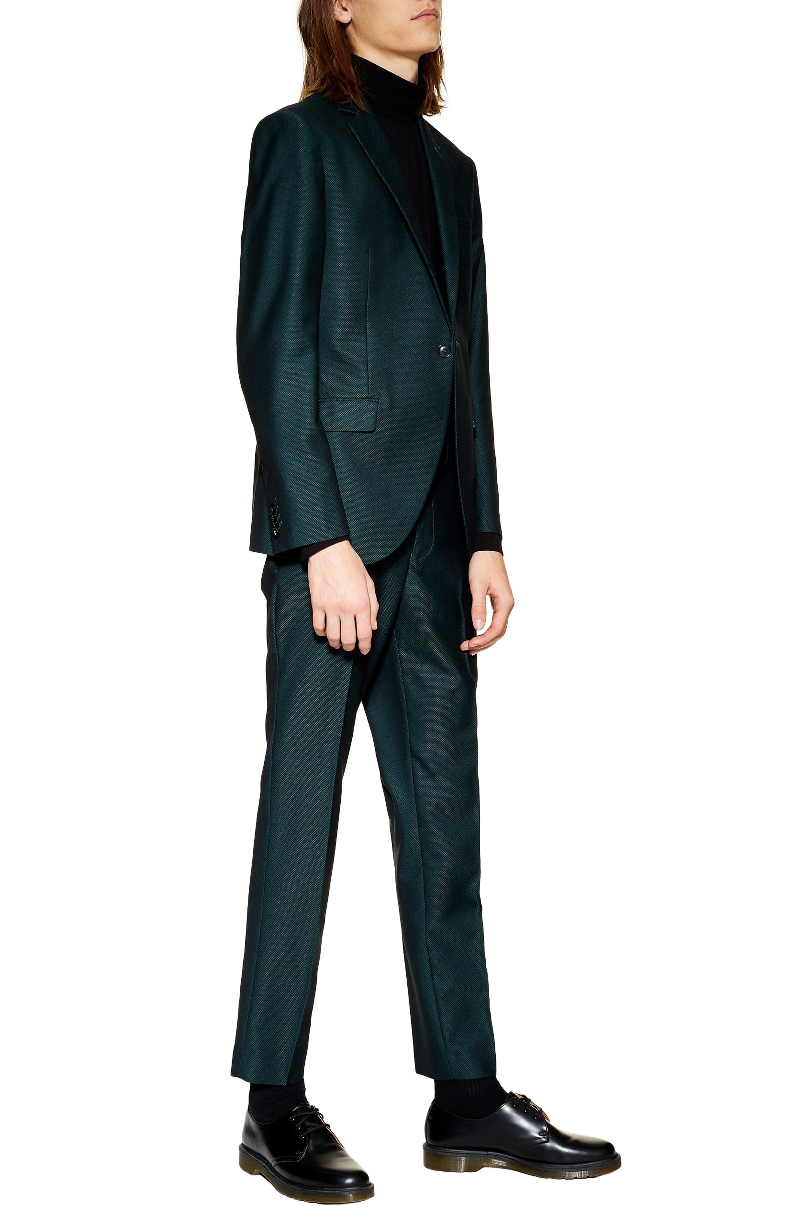 TOPMAN, Banbury Slim Fit Suit Trousers, Alternate thumbnail 3, color, 300