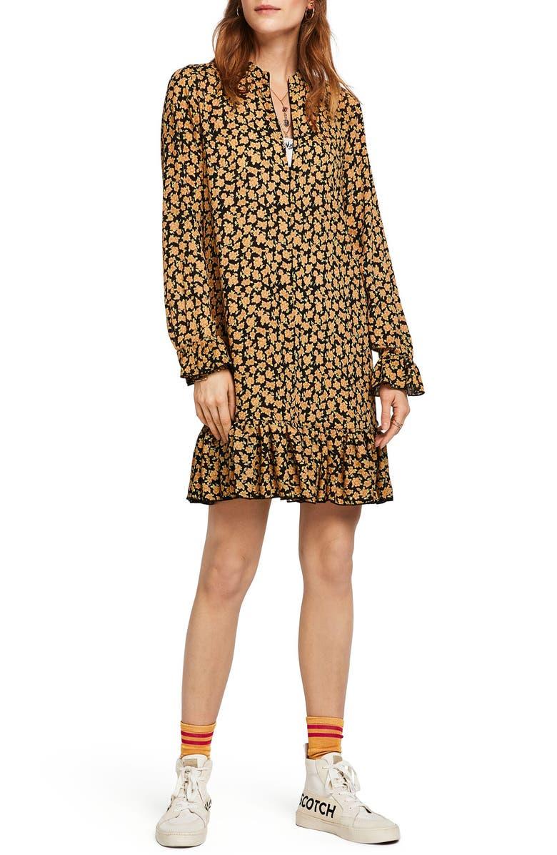 Scotch & Soda Dresses FLORAL PRINT DROP WAIST DRESS