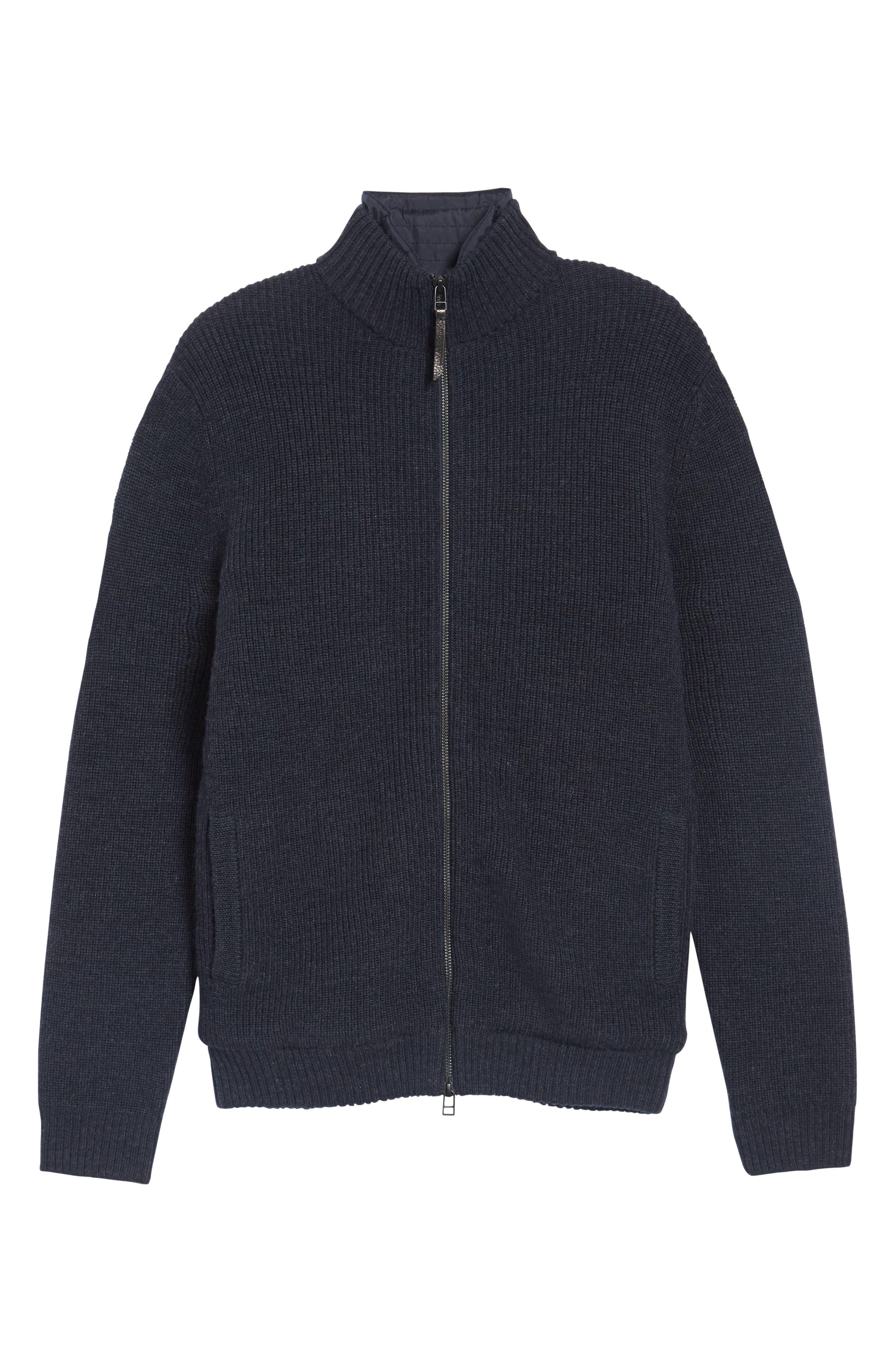 RODD & GUNN, Camerons Track Zip Wool Sweater, Alternate thumbnail 6, color, 412