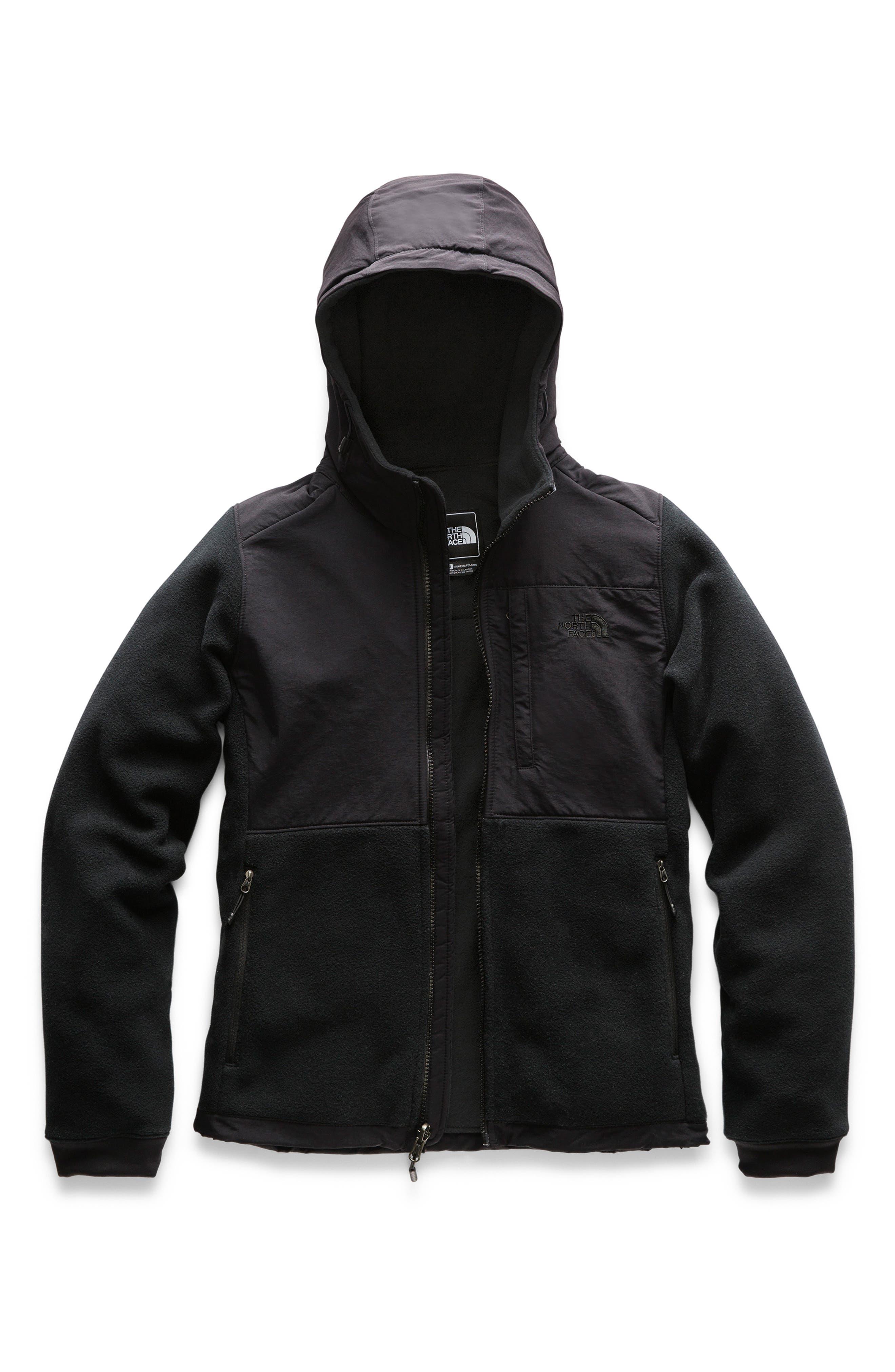 THE NORTH FACE Denali 2 Hooded Jacket, Main, color, 001