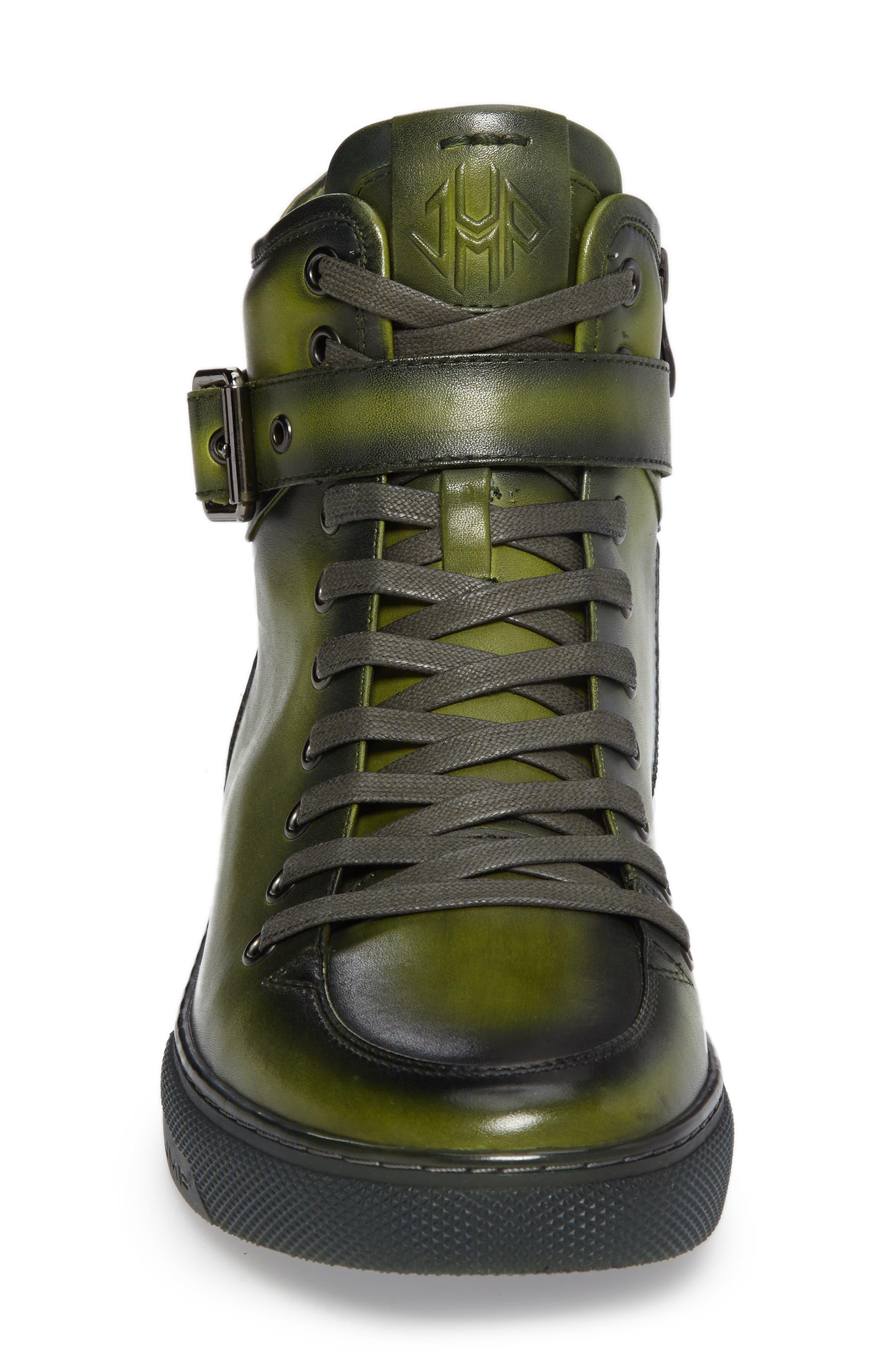 JUMP, Sullivan High Top Sneaker, Alternate thumbnail 3, color, AMAZON GREEN