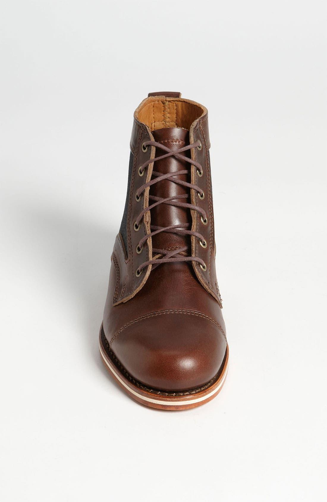 HELM, 'Reid' Cap Toe Boot, Alternate thumbnail 4, color, 200