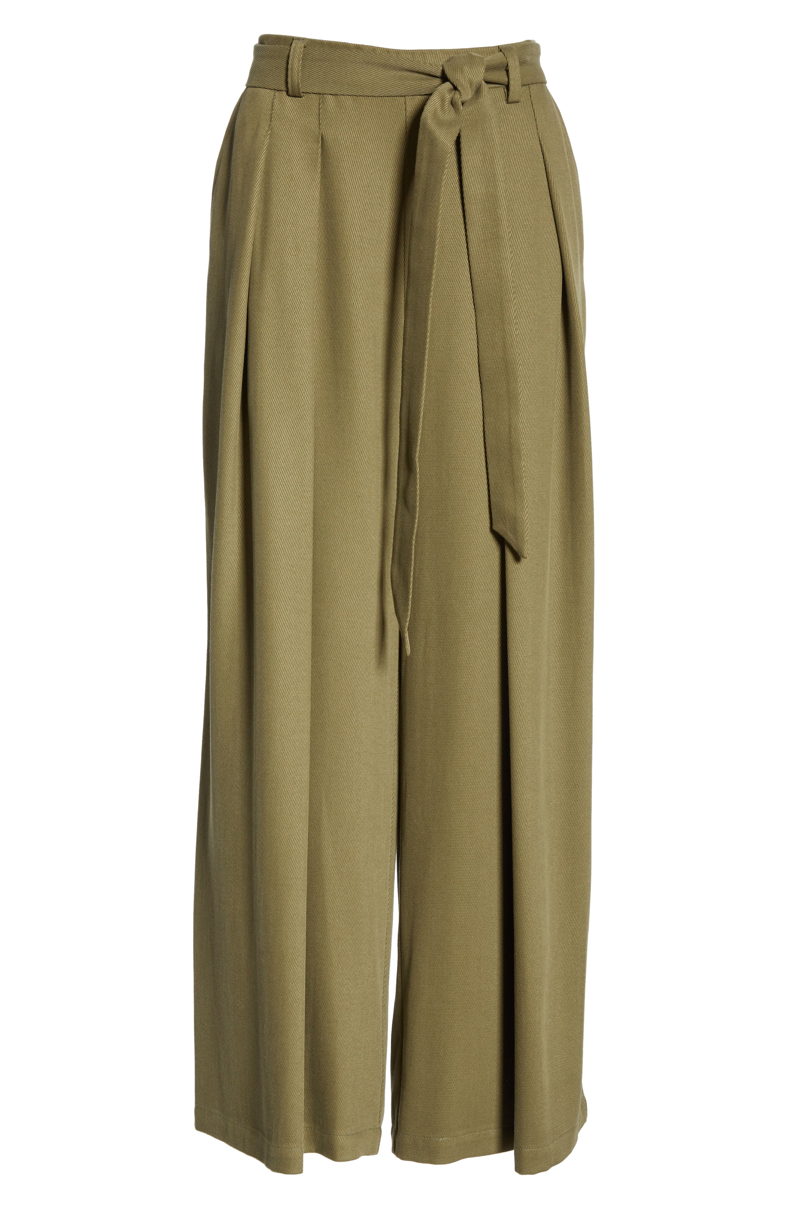 EILEEN FISHER, Belted Wide Leg Pants, Alternate thumbnail 7, color, 301