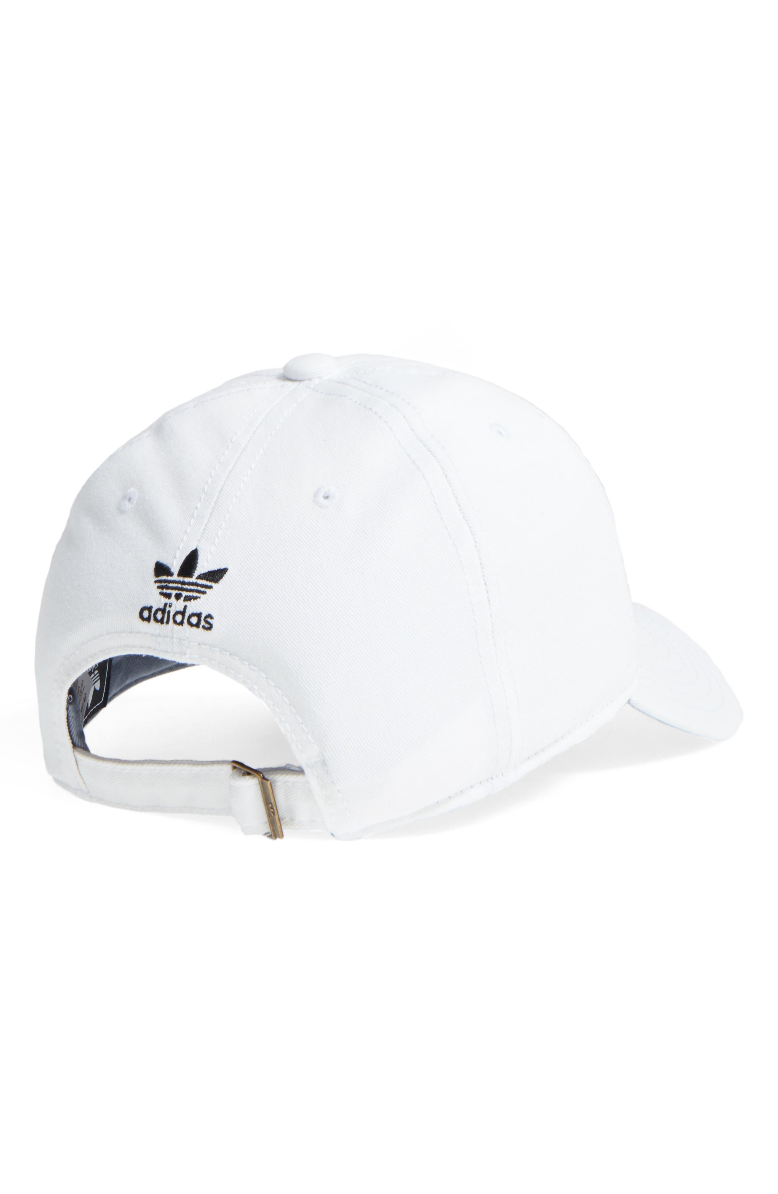 ADIDAS, Trefoil Baseball Cap, Alternate thumbnail 2, color, WHITE