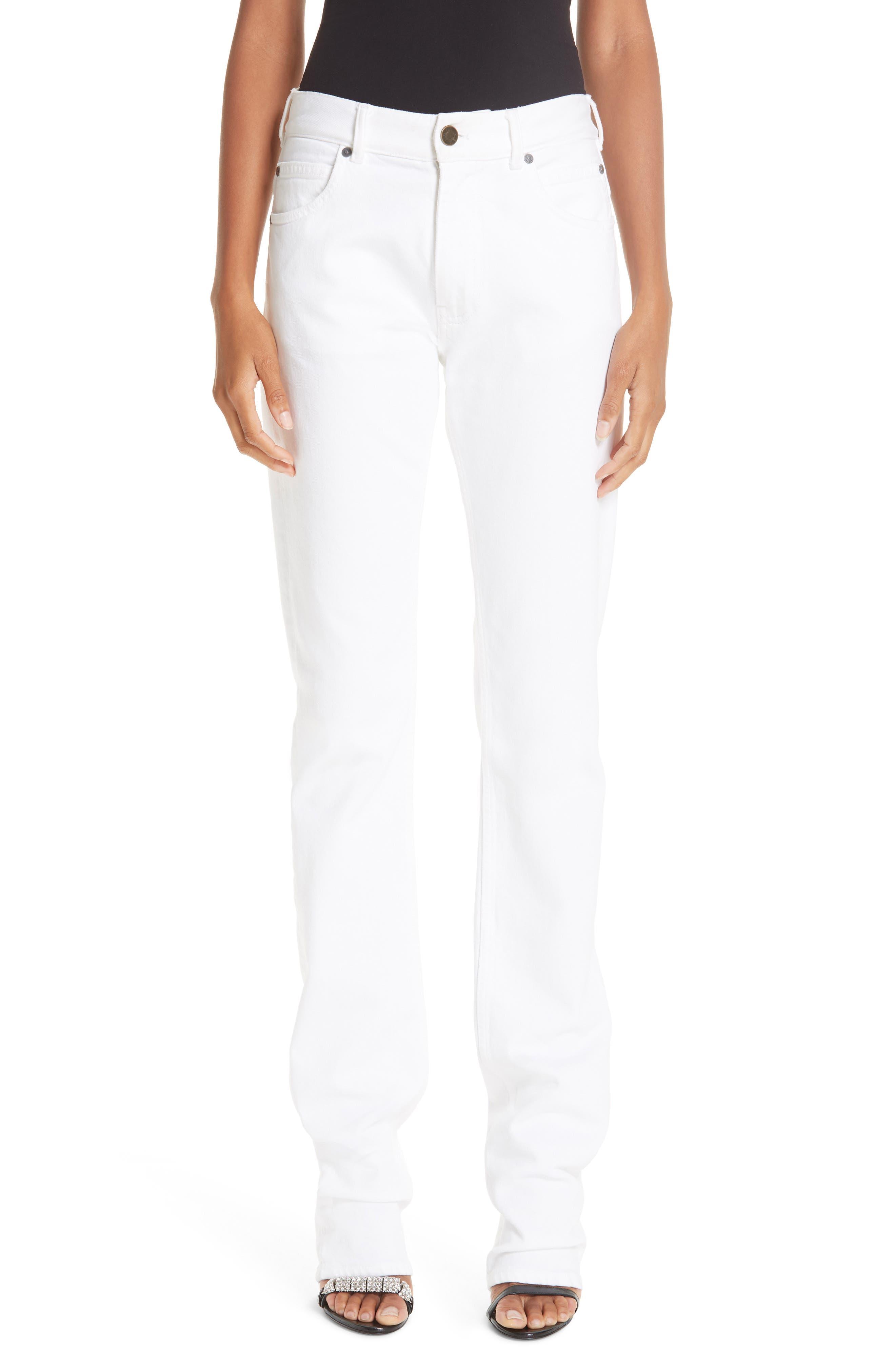 CALVIN KLEIN 205W39NYC Straight Leg Jeans, Main, color, OPTIC WHITE