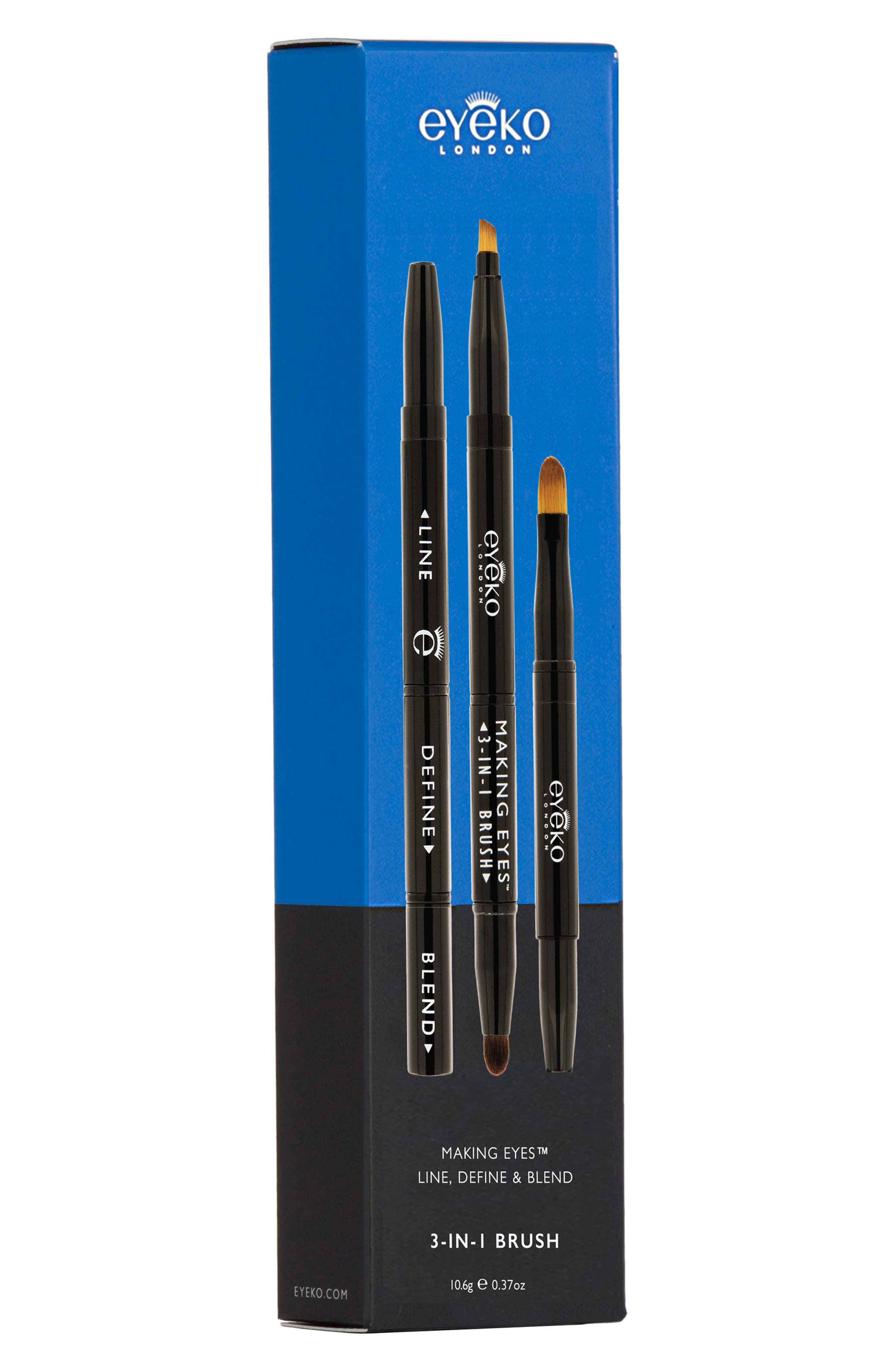 EYEKO, Making Eyes 3-in-1 Brush, Alternate thumbnail 2, color, 000