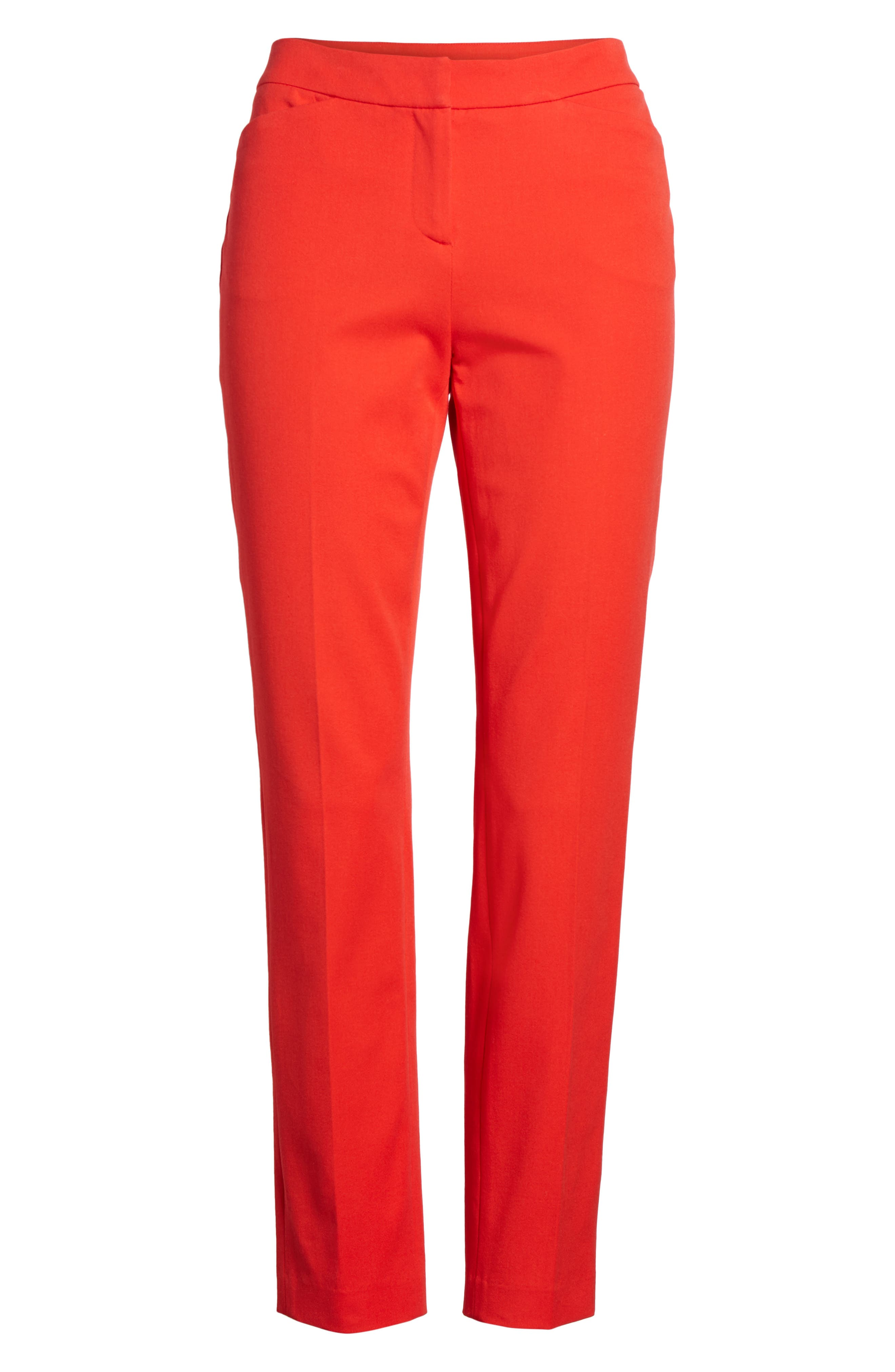 HALOGEN<SUP>®</SUP>, Ankle Pants, Alternate thumbnail 7, color, RED BLOOM
