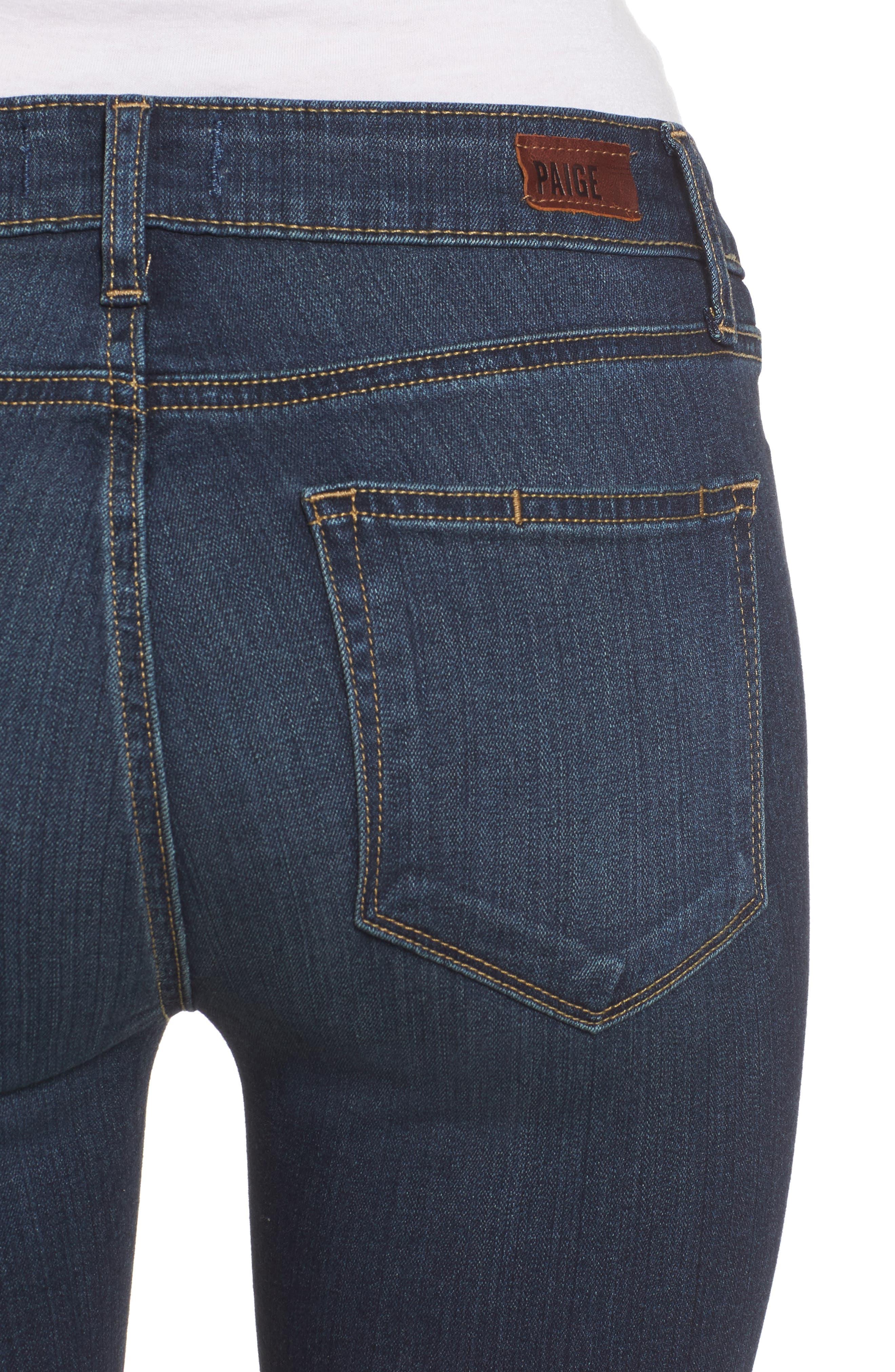PAIGE, Transcend - Manhattan Bootcut Jeans, Alternate thumbnail 5, color, NOTTINGHAM