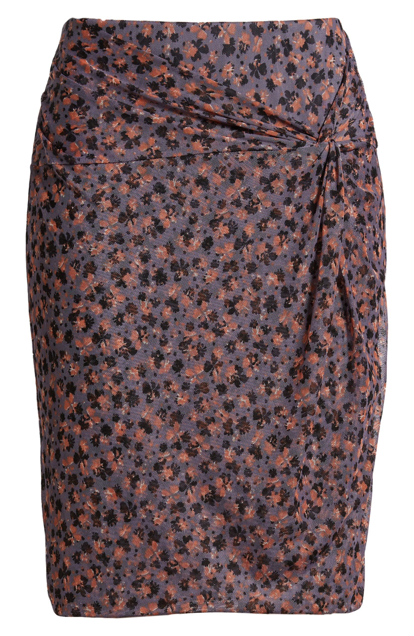 ced127fe1 1.STATE Ditzy Drift Twist Front Mesh Skirt | Nordstrom