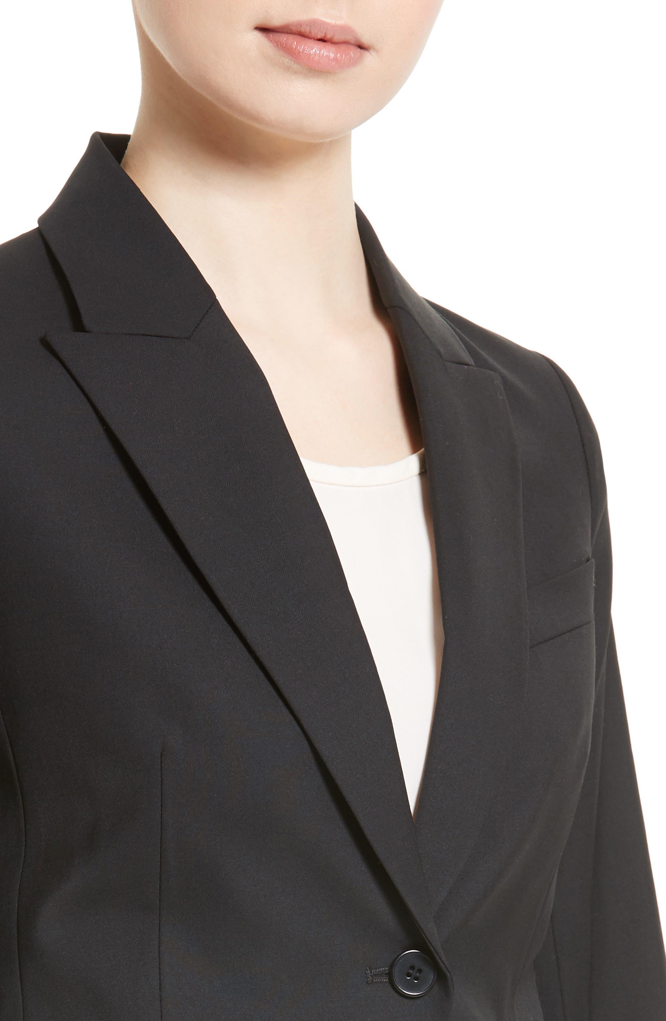 THEORY, Brince B Good Wool Suit Jacket, Alternate thumbnail 5, color, BLACK