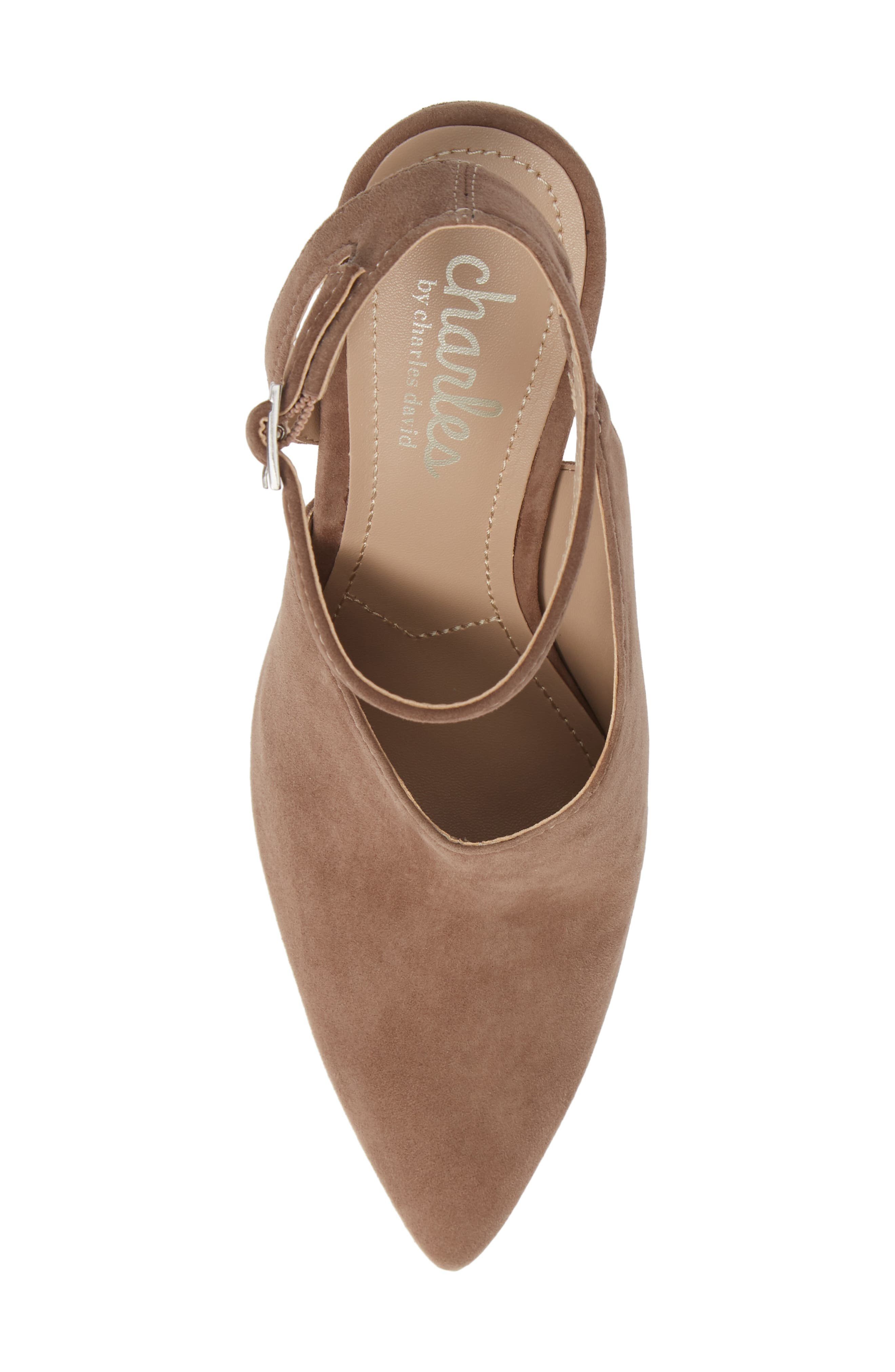 CHARLES BY CHARLES DAVID, Mieko Pump, Alternate thumbnail 5, color, TAUPE SUEDE