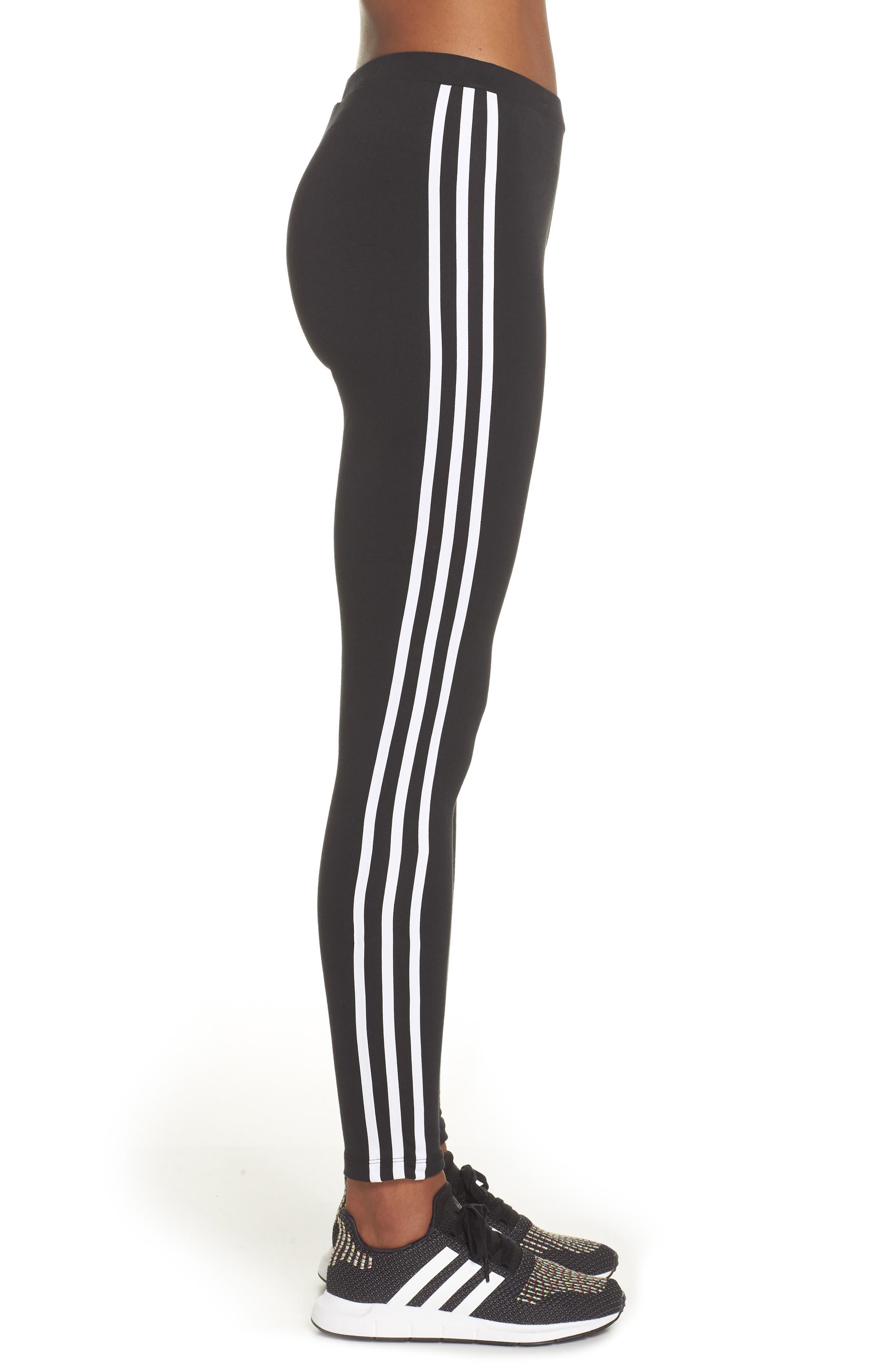 ADIDAS ORIGINALS, adidas 3-Stripes Tights, Alternate thumbnail 4, color, 001