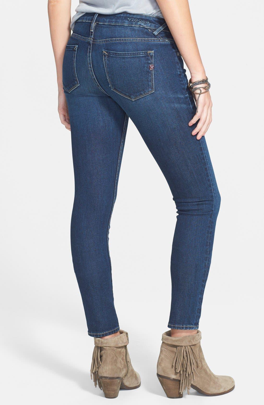 VIGOSS, Skinny Jeans, Alternate thumbnail 2, color, 400