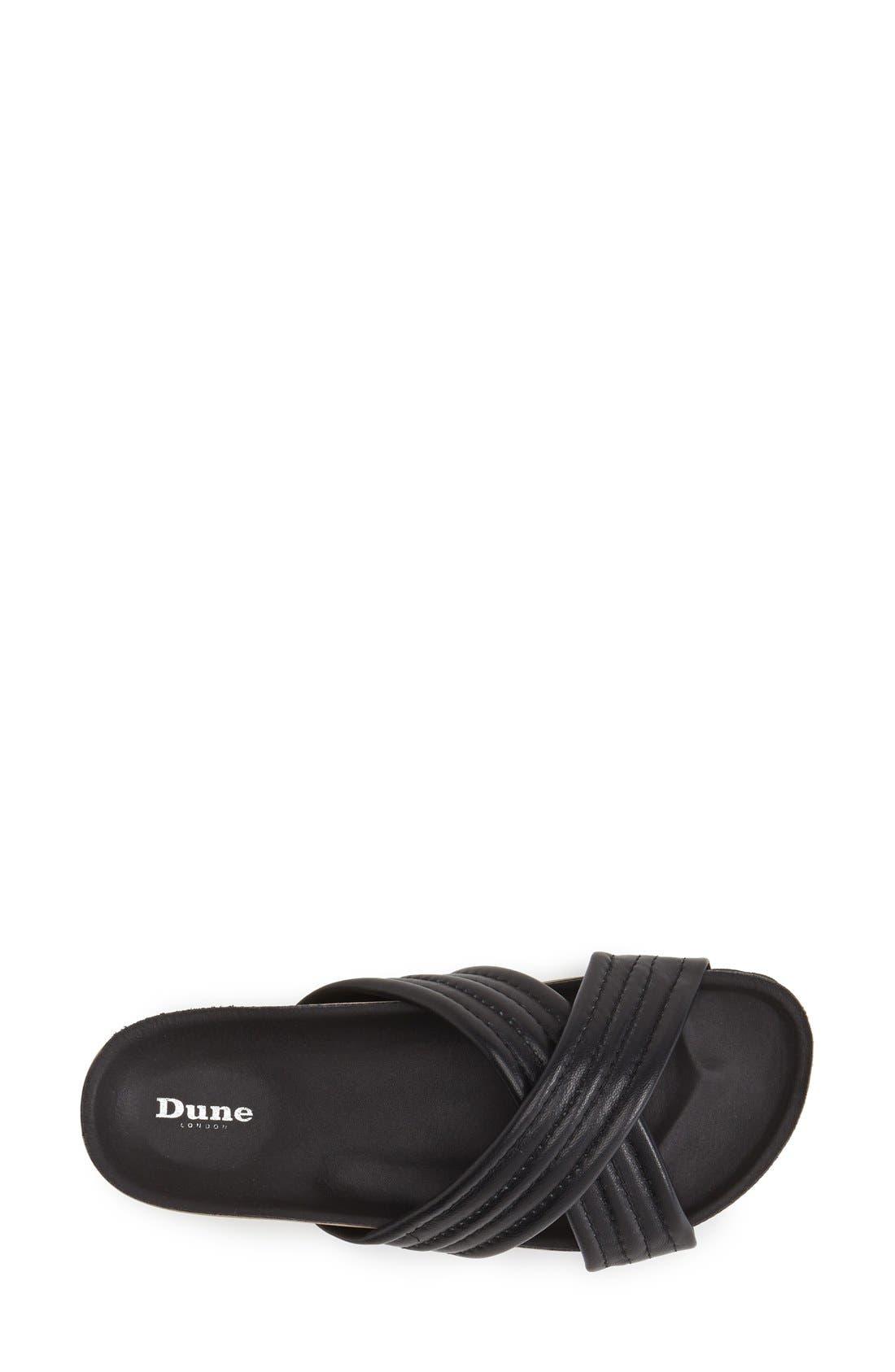 DUNE LONDON, 'Jolenes' Leather Slide Sandal, Alternate thumbnail 3, color, 002