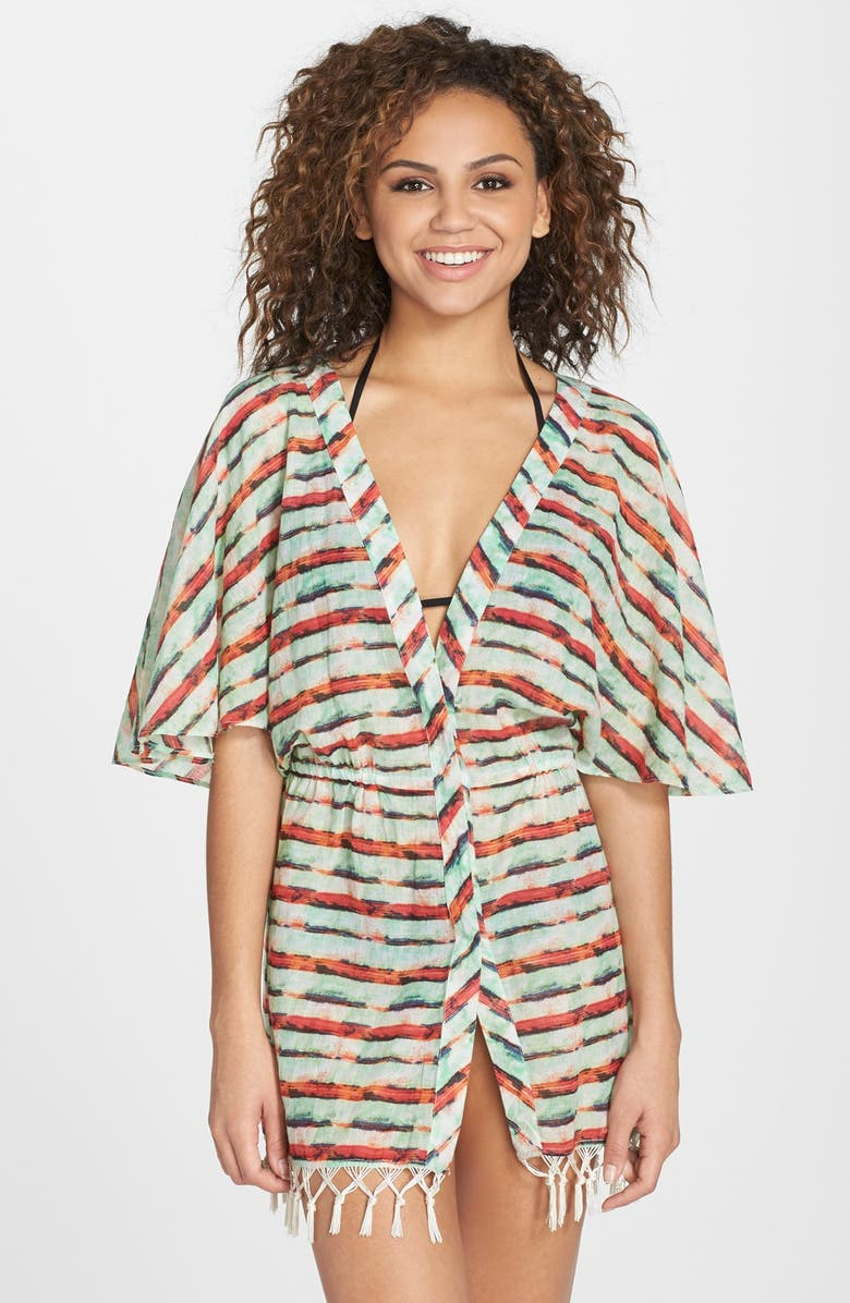 2d98df1083d37 Sofia by ViX Swimwear 'Pavlin' Fringe Detail Kimono Cover-Up | Nordstrom