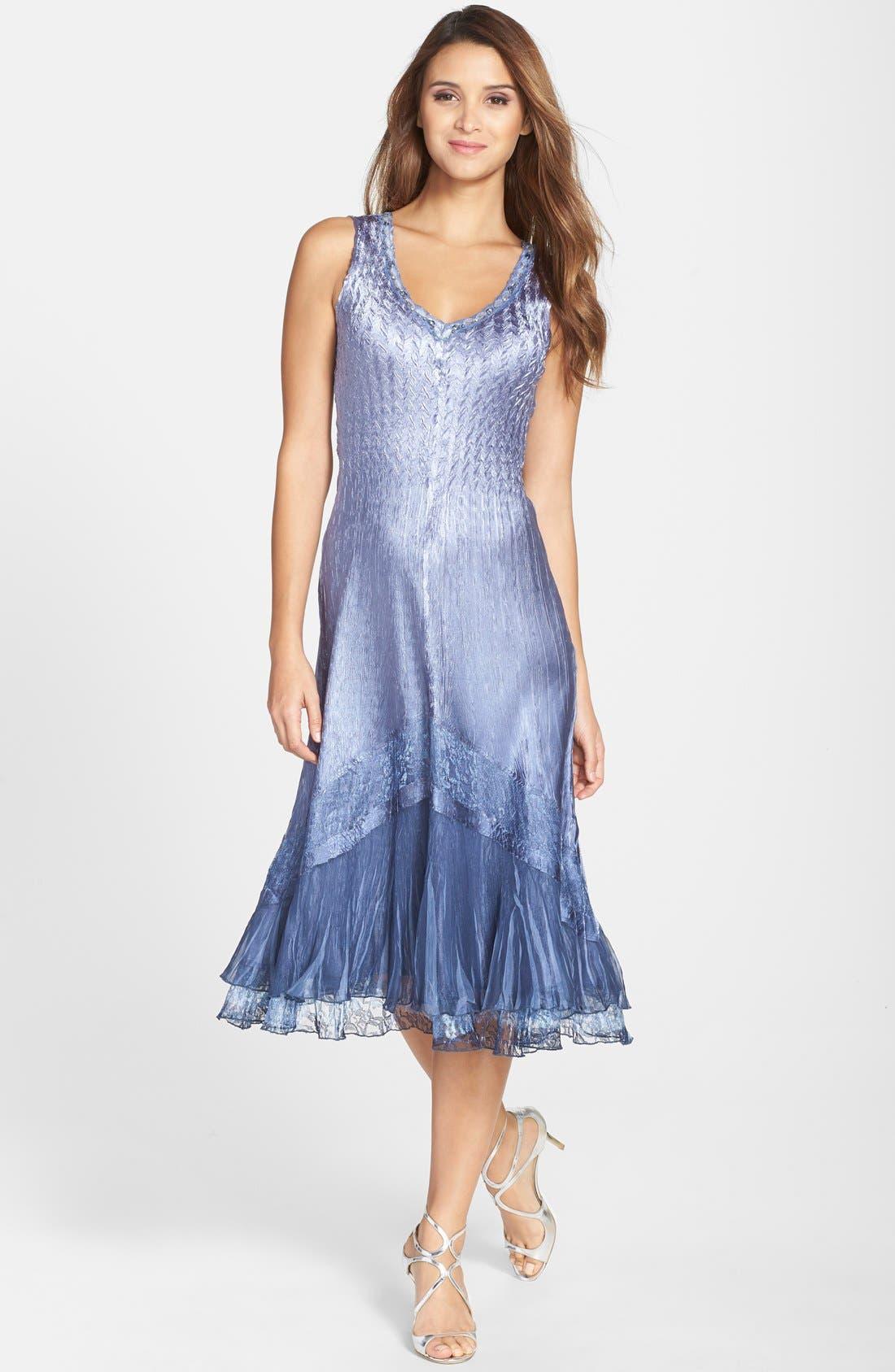 KOMAROV, Embellished Lace Trim Charmeuse Dress & Jacket, Alternate thumbnail 6, color, 500