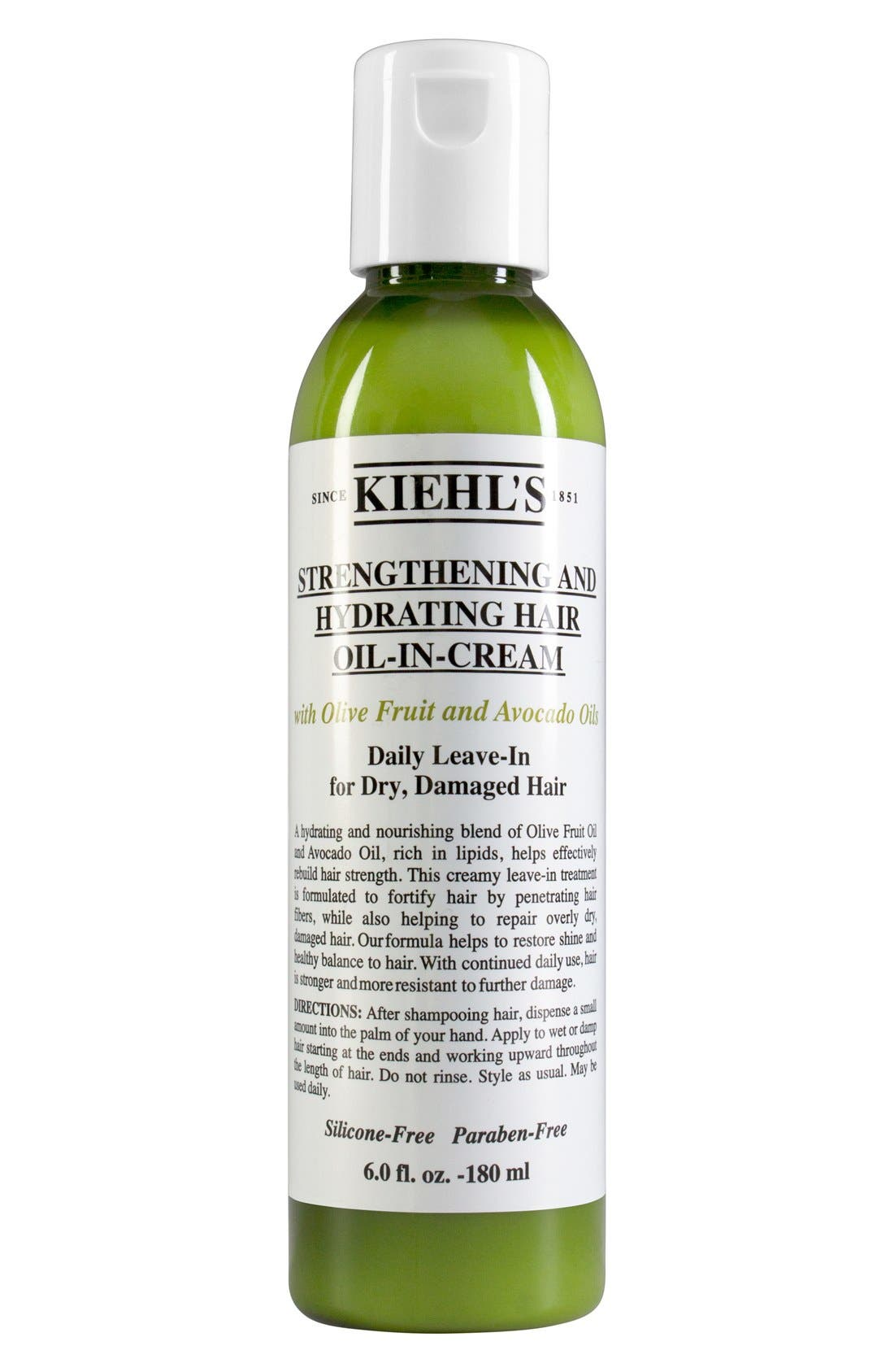 KIEHL'S SINCE 1851, Olive Fruit Oil Strengthening and Hydrating Hair Oil-In-Cream, Main thumbnail 1, color, NO COLOR
