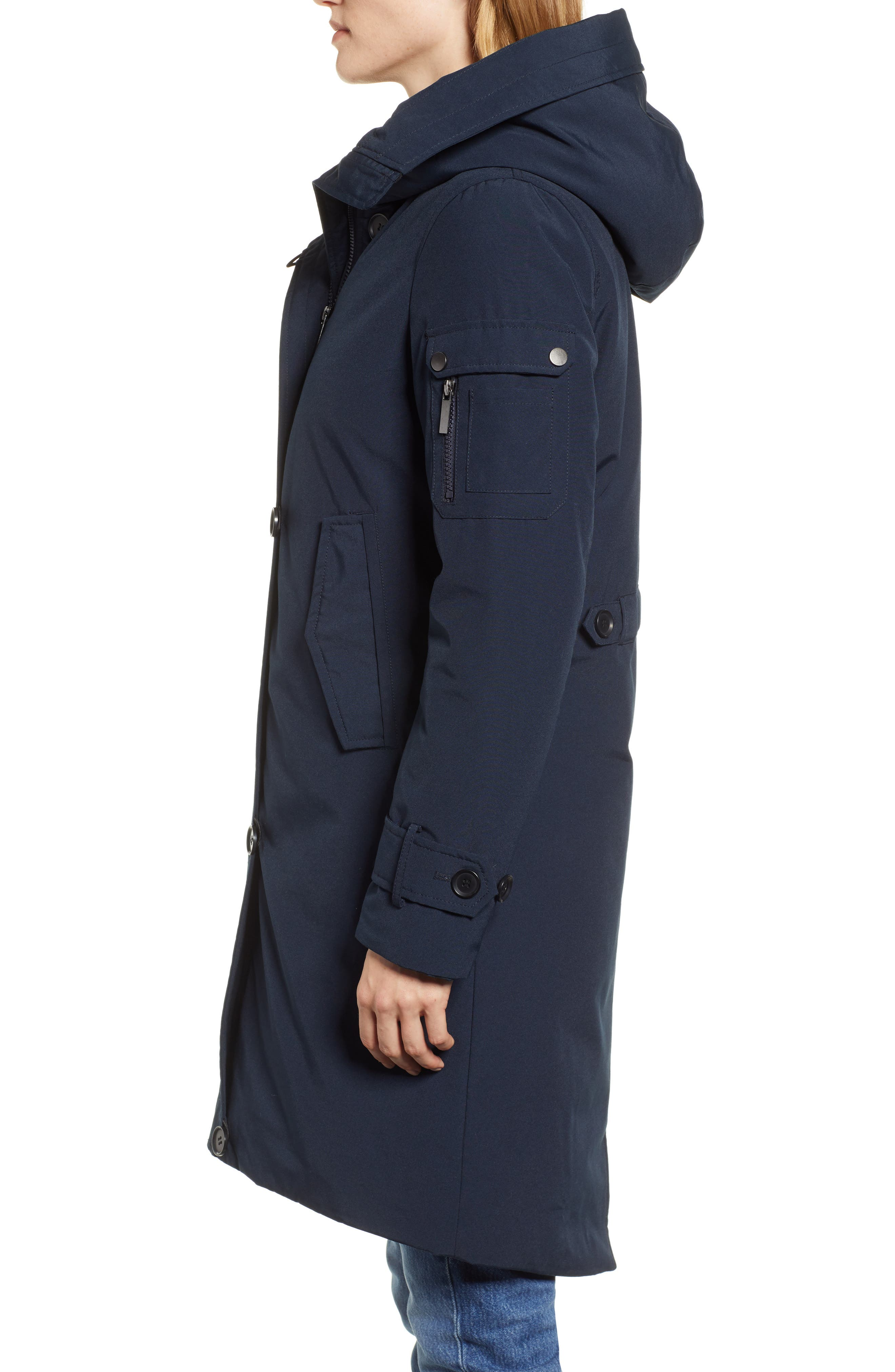 HALOGEN<SUP>®</SUP>, Heavyweight Parka, Alternate thumbnail 4, color, NAVY