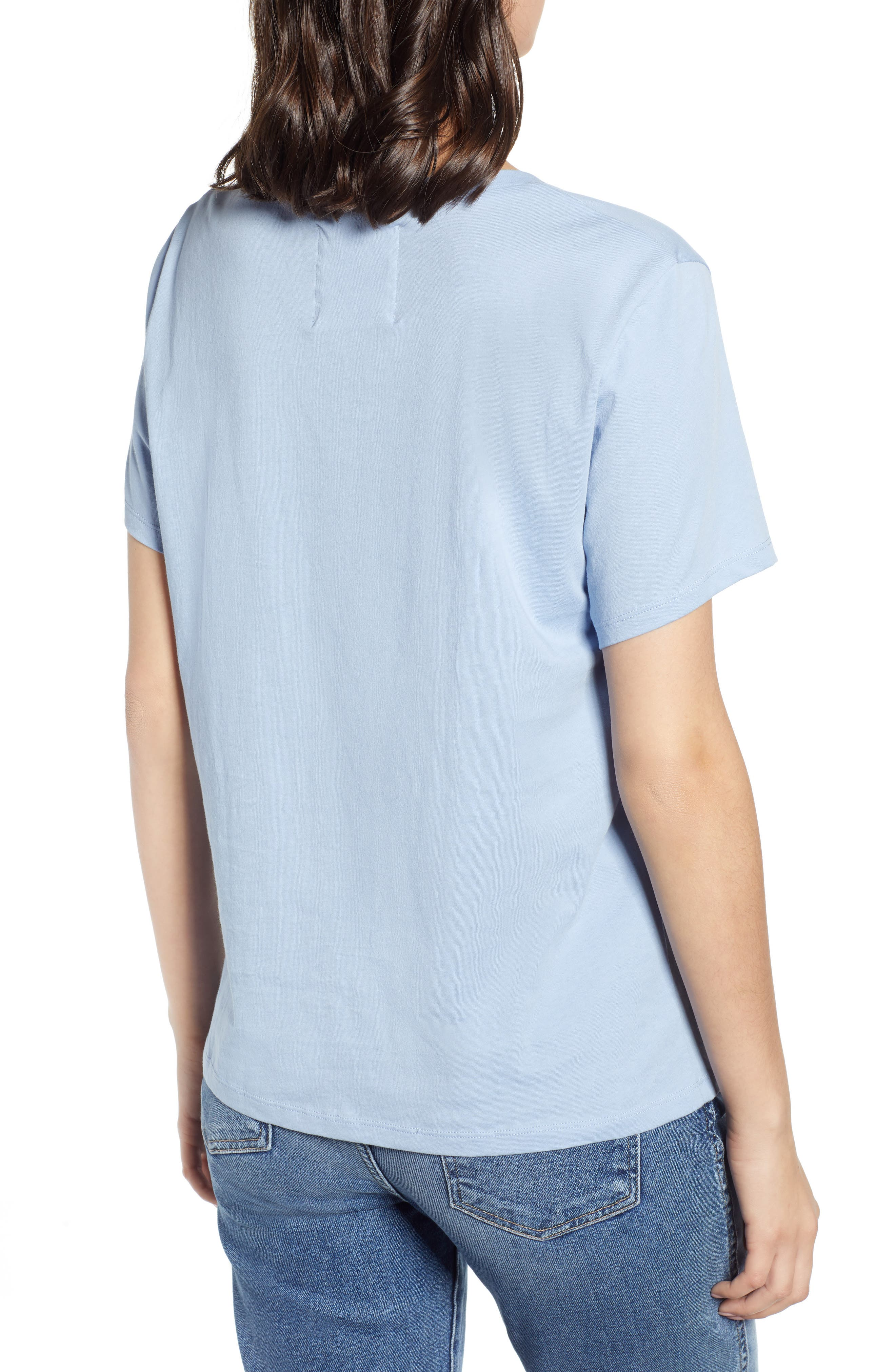 BAN.DO, Happy Place Classic Tee, Alternate thumbnail 2, color, LIGHT BLUE