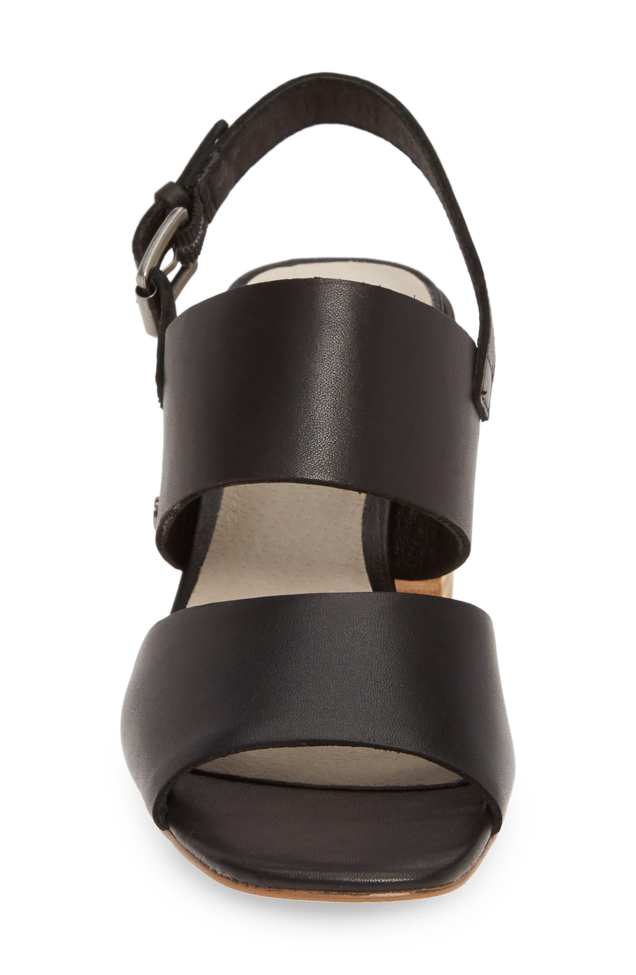 CASLON<SUP>®</SUP>, Caslon Brayden Slingback Sandal, Alternate thumbnail 4, color, BLACK LEATHER
