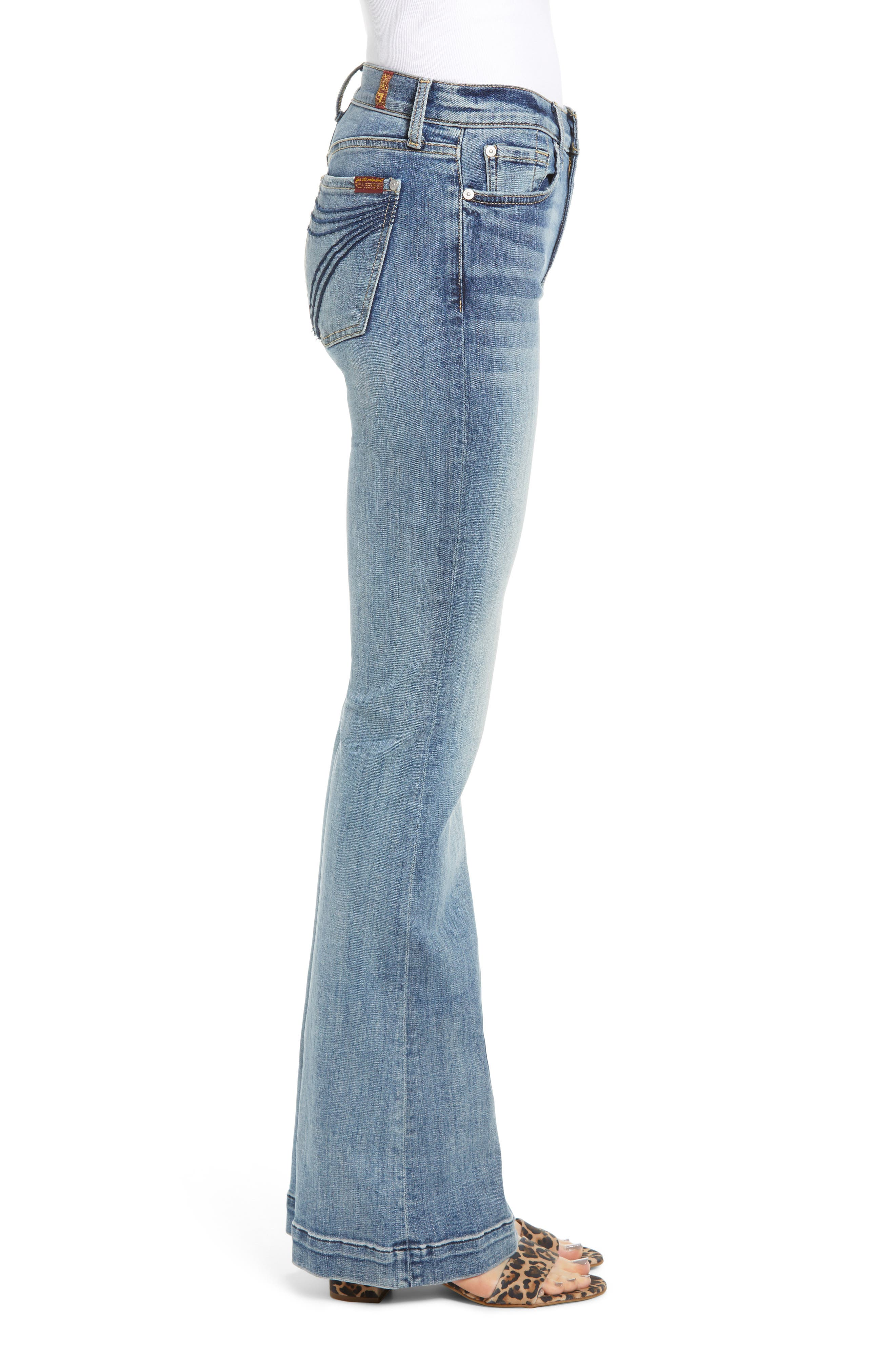 7 FOR ALL MANKIND<SUP>®</SUP>, Dojo Wide Leg Jeans, Alternate thumbnail 4, color, BAIR AUTHENTIC FORTUNE