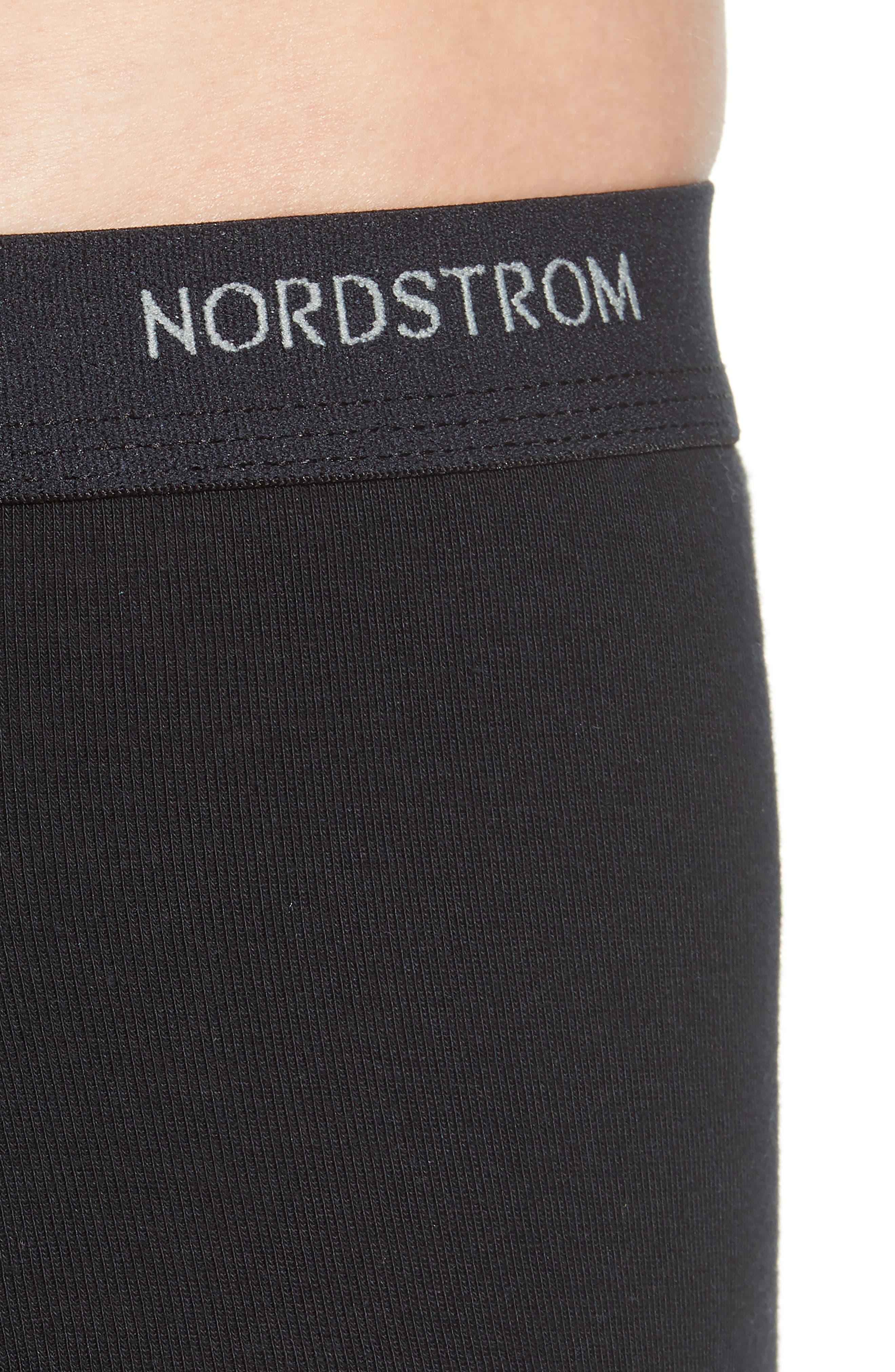 NORDSTROM MEN'S SHOP, 4-Pack Supima<sup>®</sup> Cotton Briefs, Alternate thumbnail 5, color, BLACK