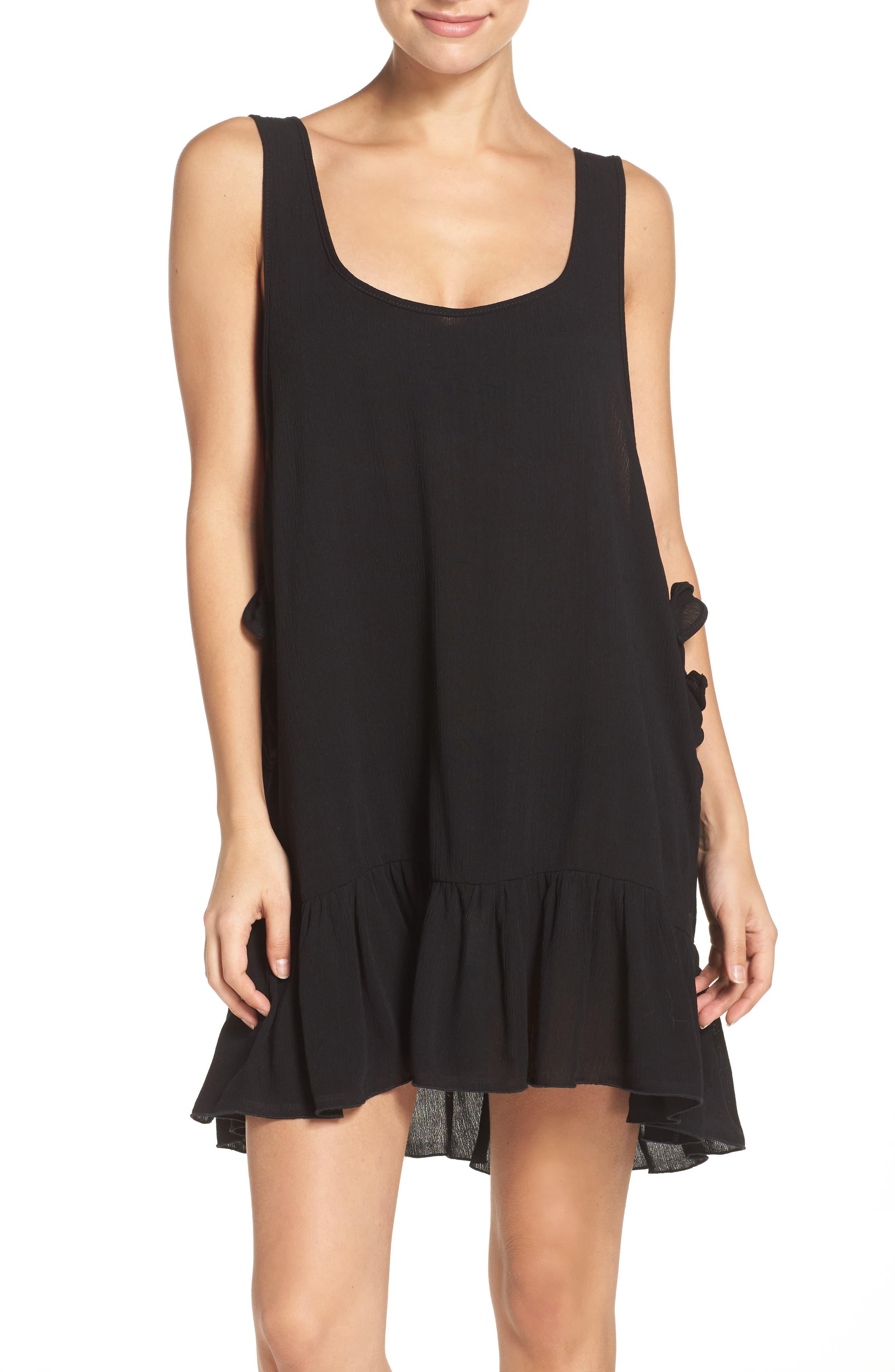 ELAN Side Tie Cover-Up Dress, Main, color, 001