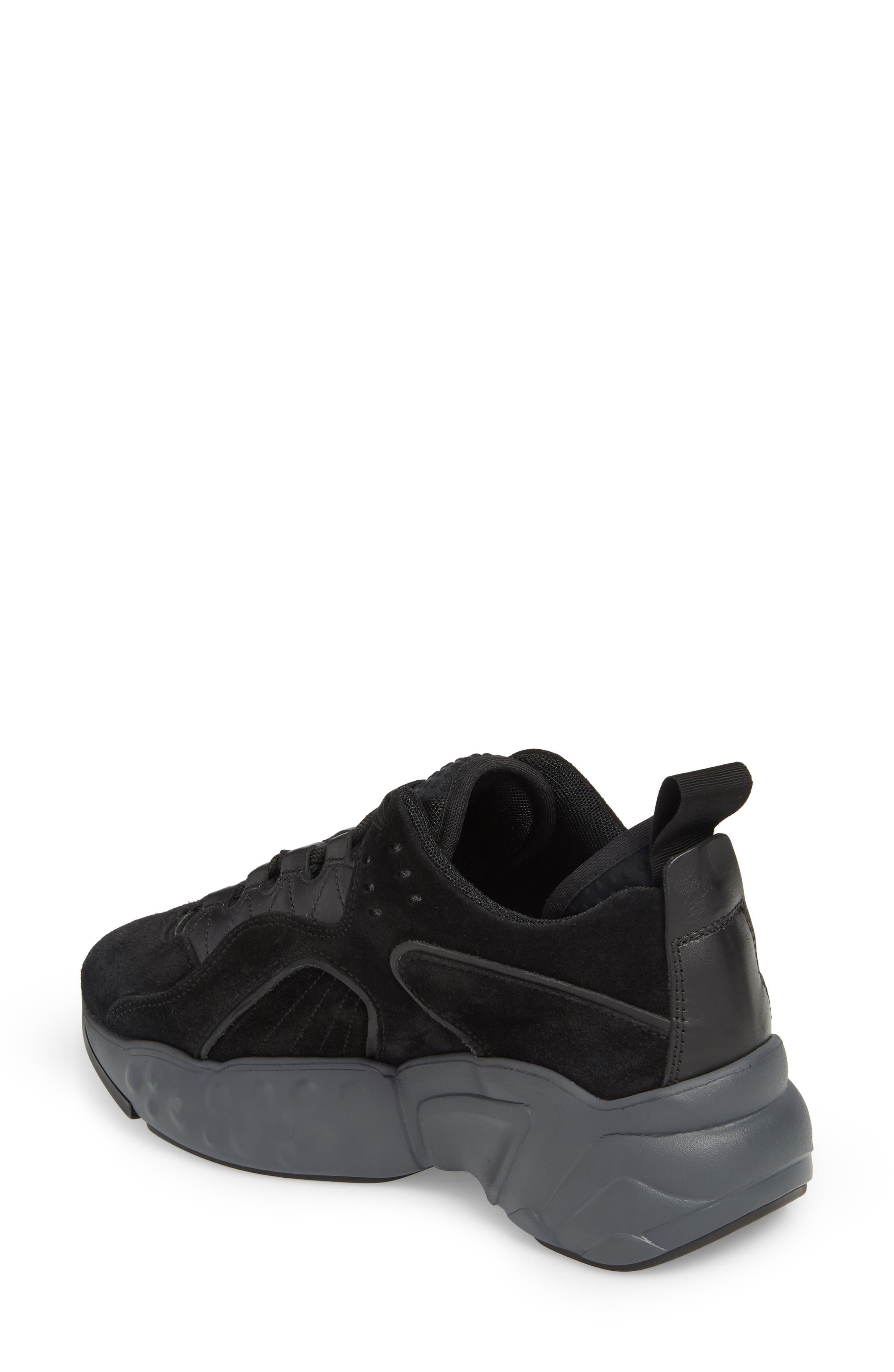 ACNE STUDIOS, Manhattan Sneaker, Alternate thumbnail 2, color, MULTI BLACK