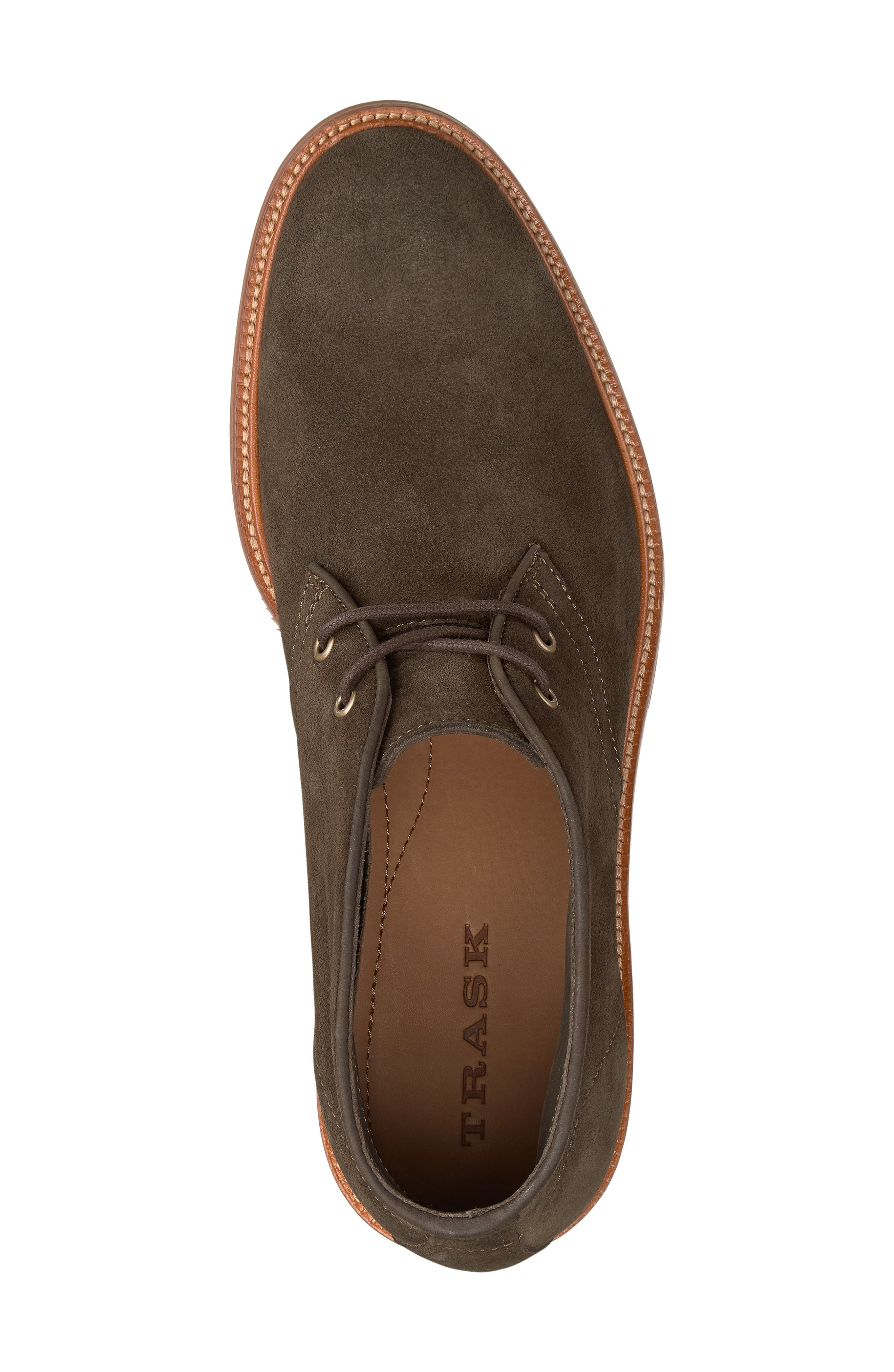 TRASK, Landers Chukka Boot, Alternate thumbnail 5, color, OLIVE SUEDE