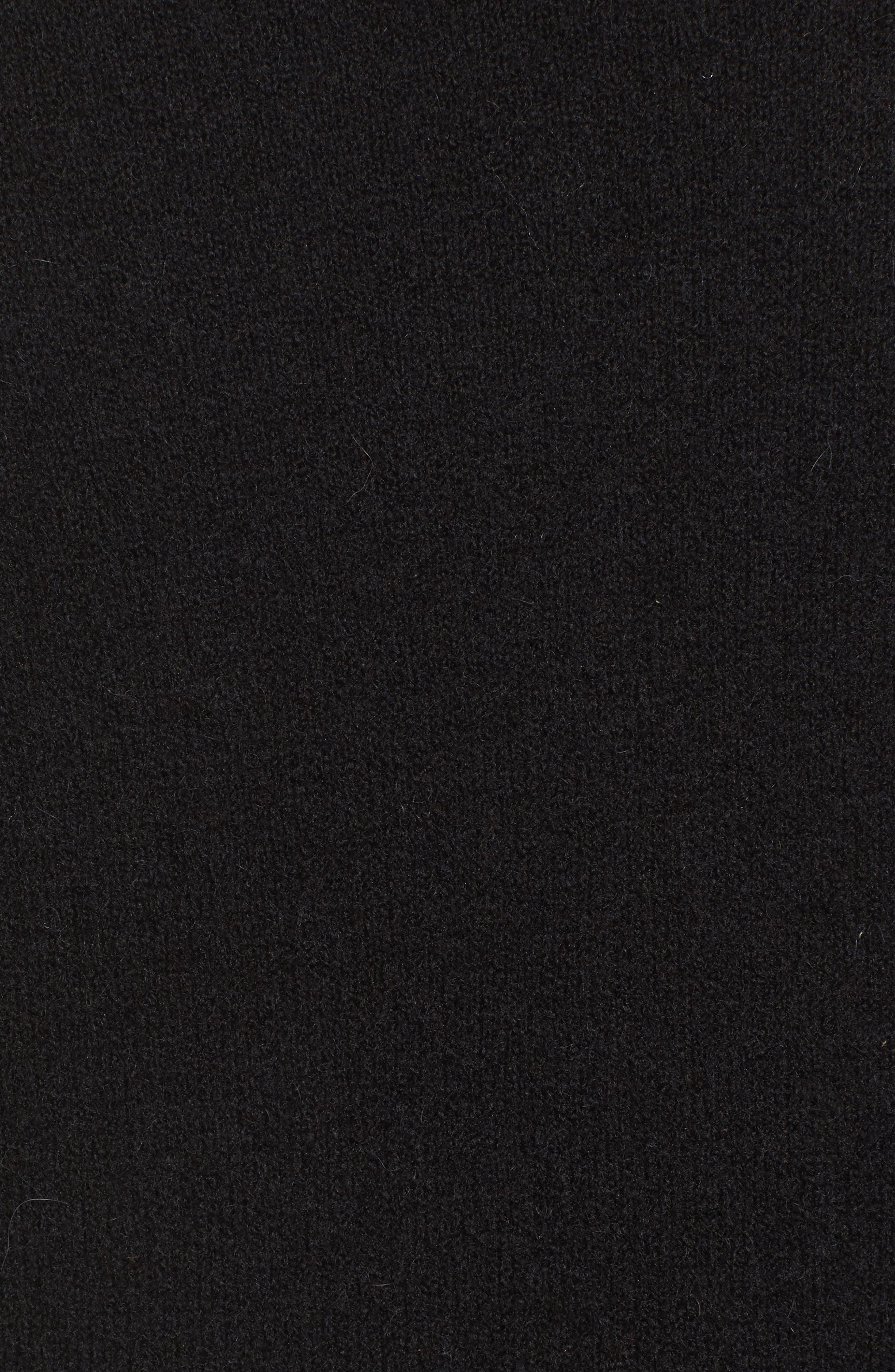 MADEWELL, Kent Cardigan Sweater, Alternate thumbnail 5, color, TRUE BLACK