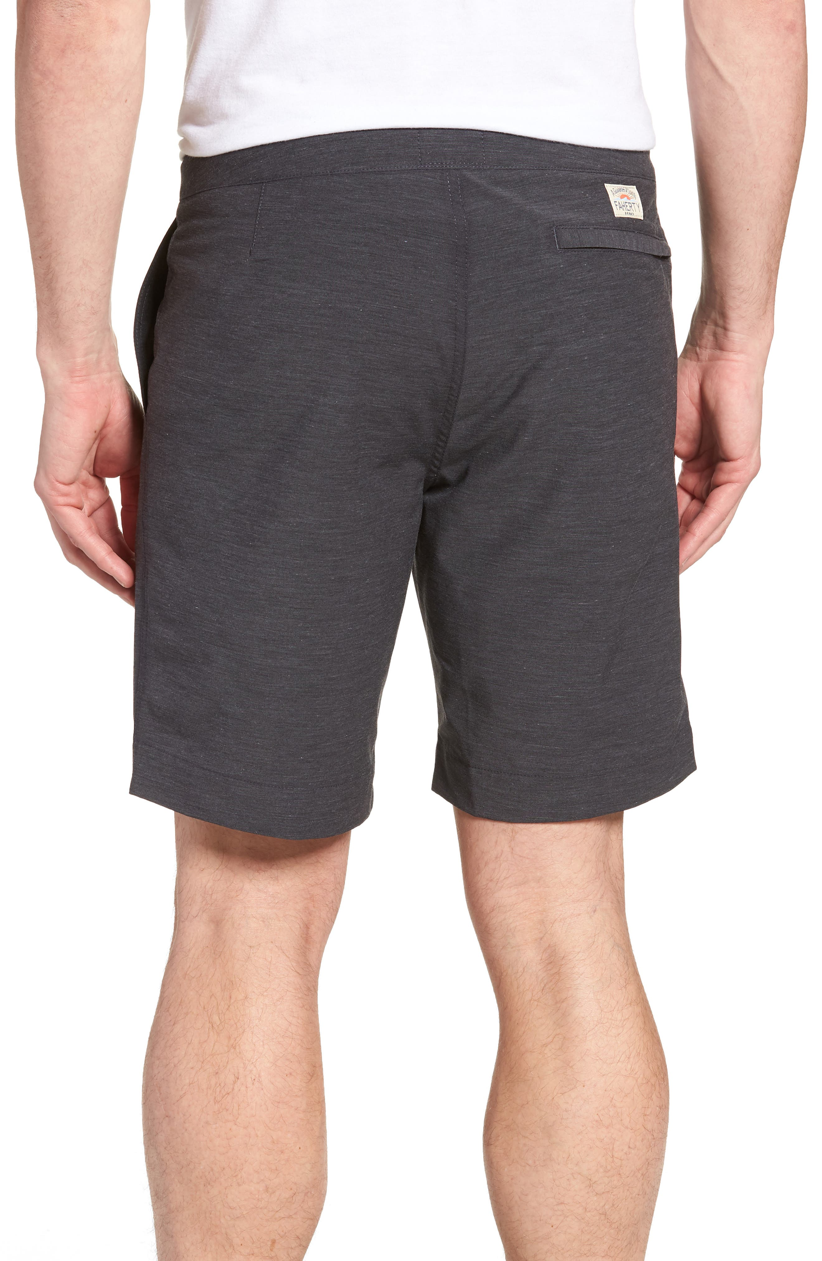 FAHERTY, All Day Flat Front Shorts, Alternate thumbnail 2, color, CHARCOAL