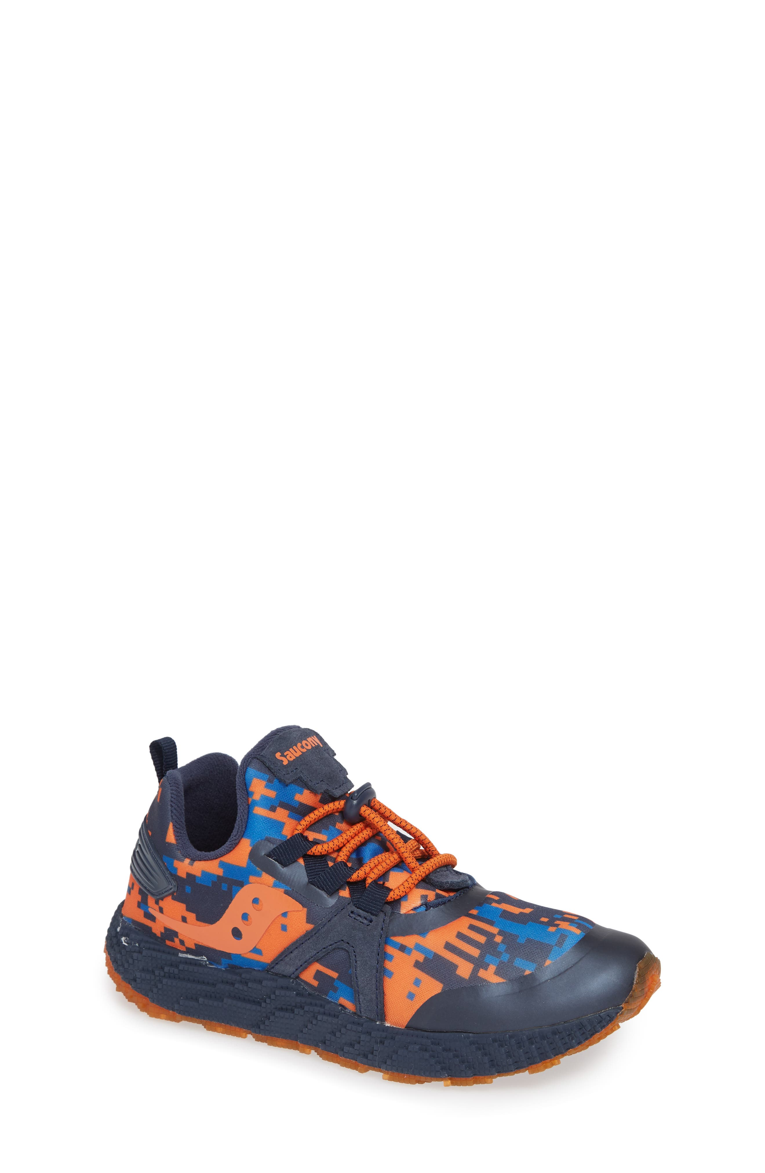 SAUCONY, Voxel 9000 Sneaker, Main thumbnail 1, color, BLUE LEATHER/ MESH