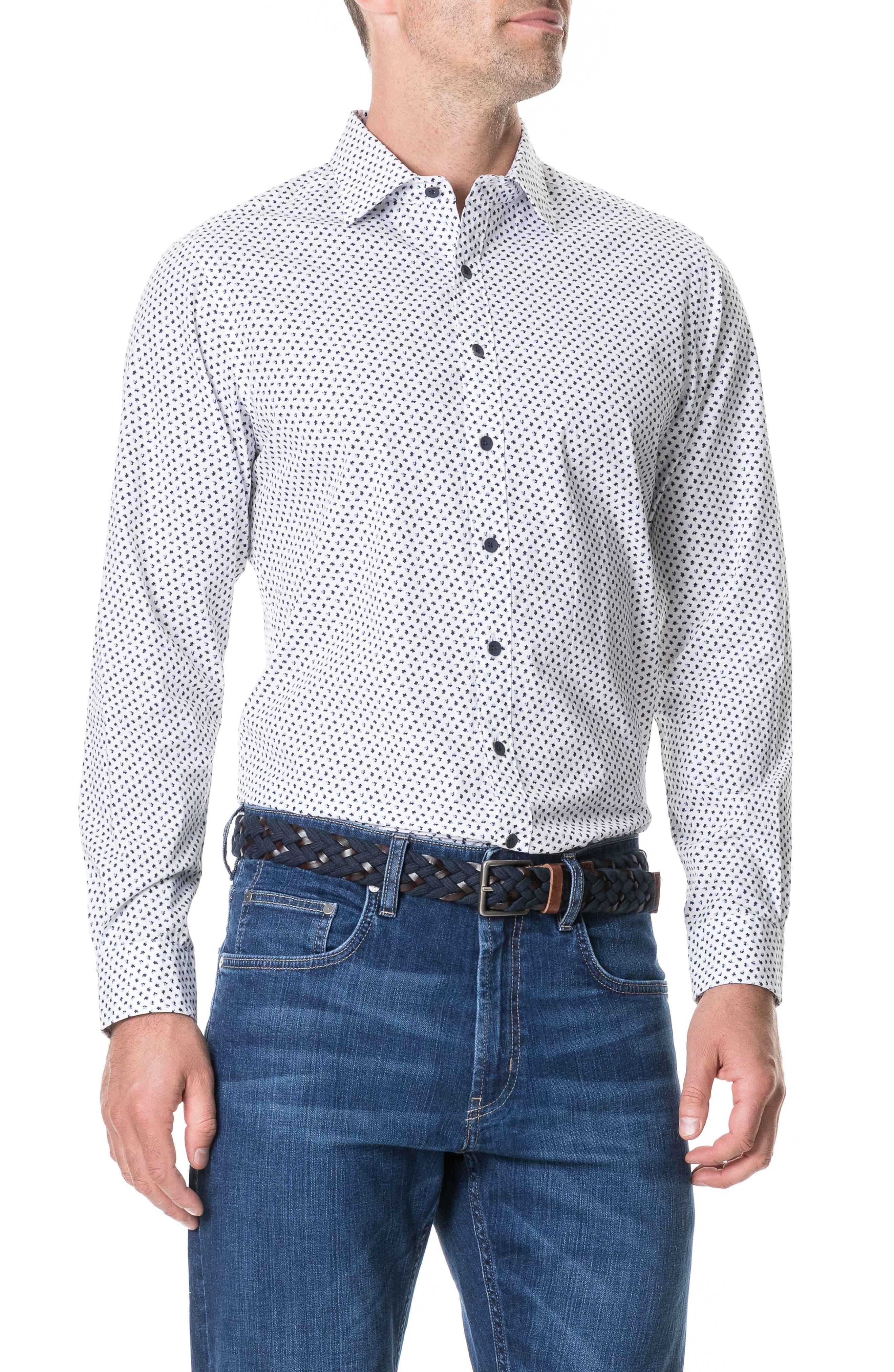 RODD & GUNN, Northcross Sport Shirt, Main thumbnail 1, color, IVORY