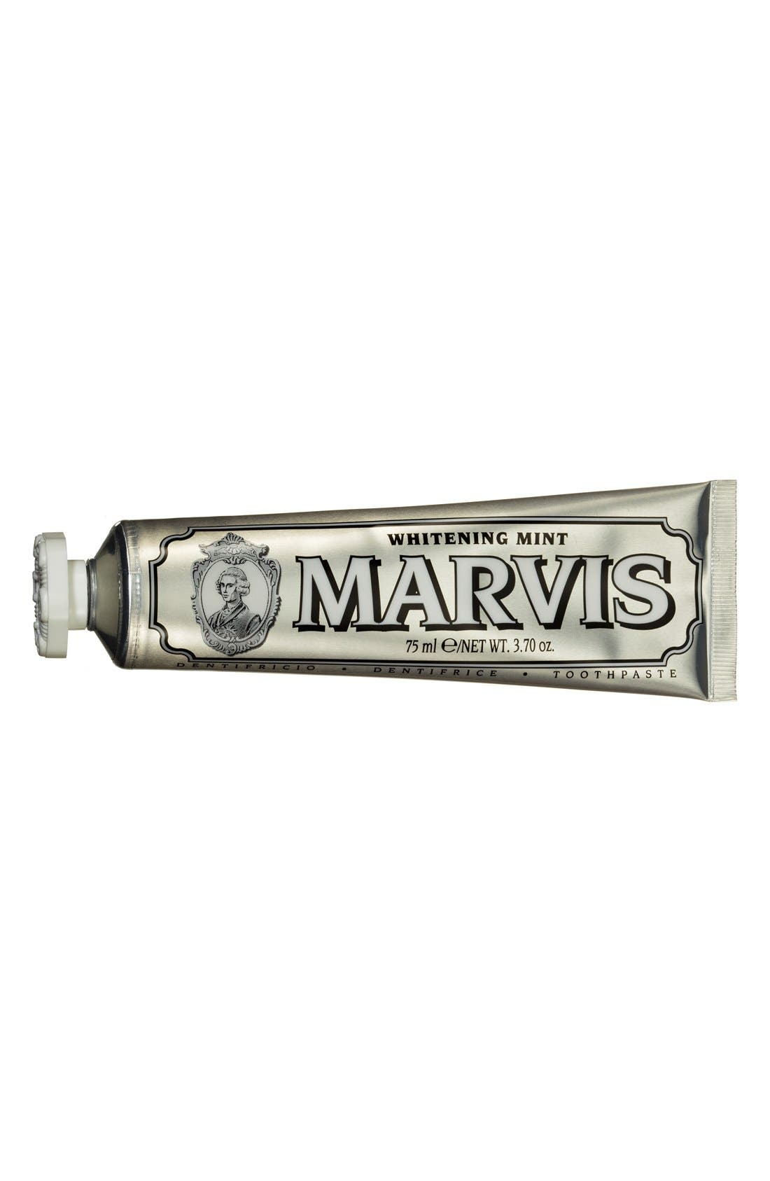 C.O. BIGELOW,  'Marvis' Whitening Mint Toothpaste, Main thumbnail 1, color, NO COLOR