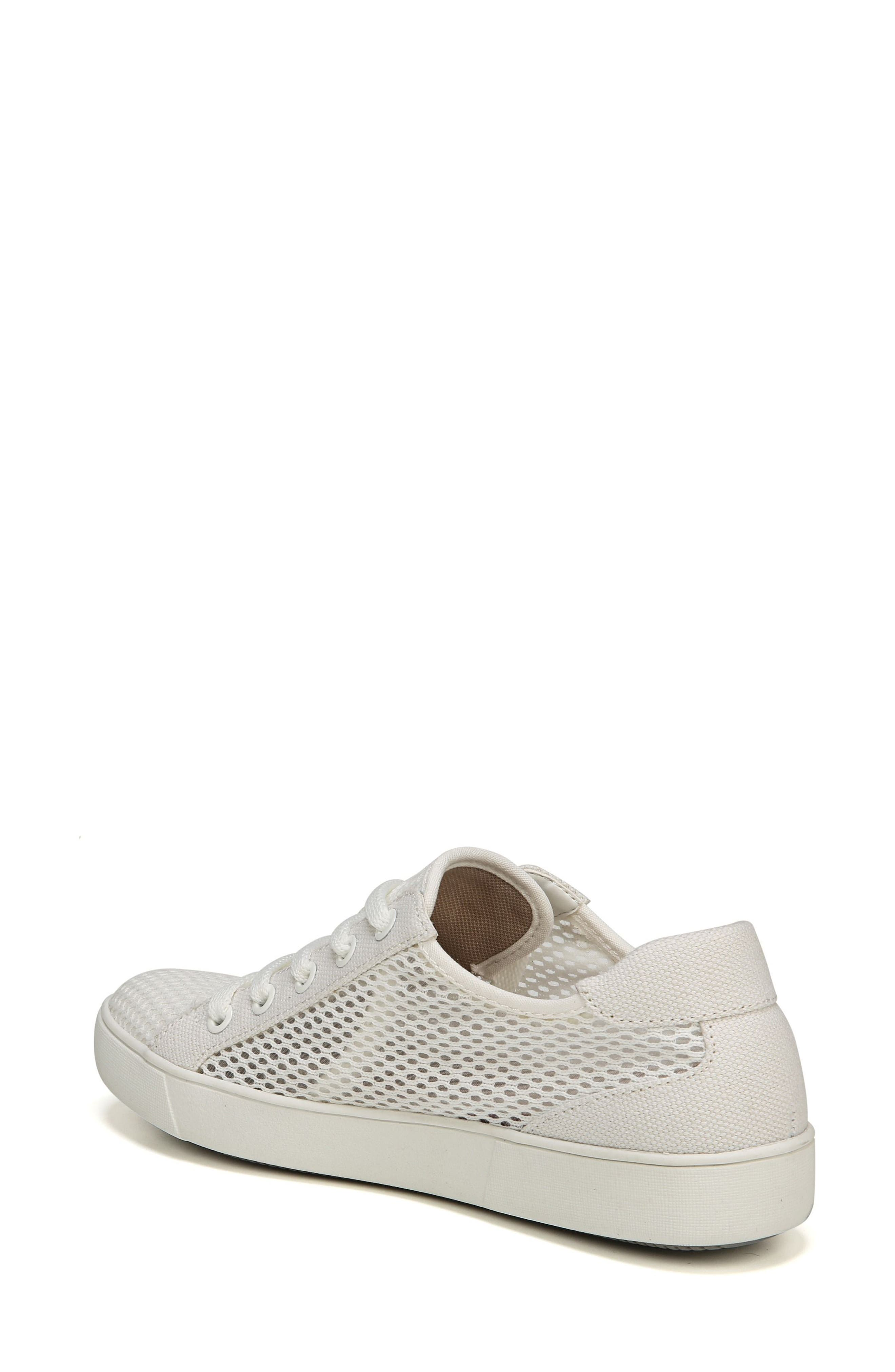 NATURALIZER, Morrison III Perforated Sneaker, Alternate thumbnail 2, color, WHITE FABRIC