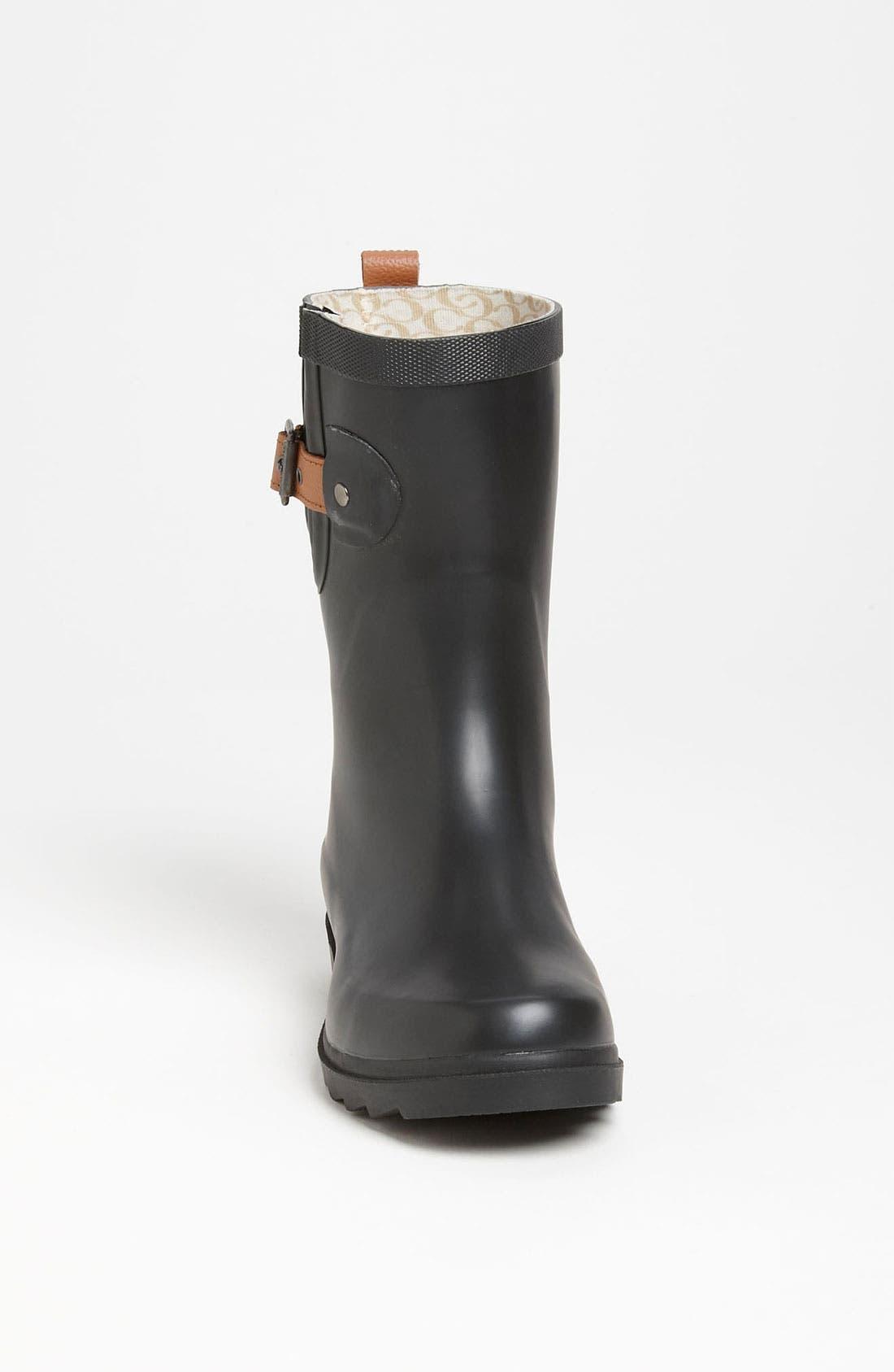 CHOOKA, 'Top Solid Mid Height' Rain Boot, Alternate thumbnail 4, color, 001