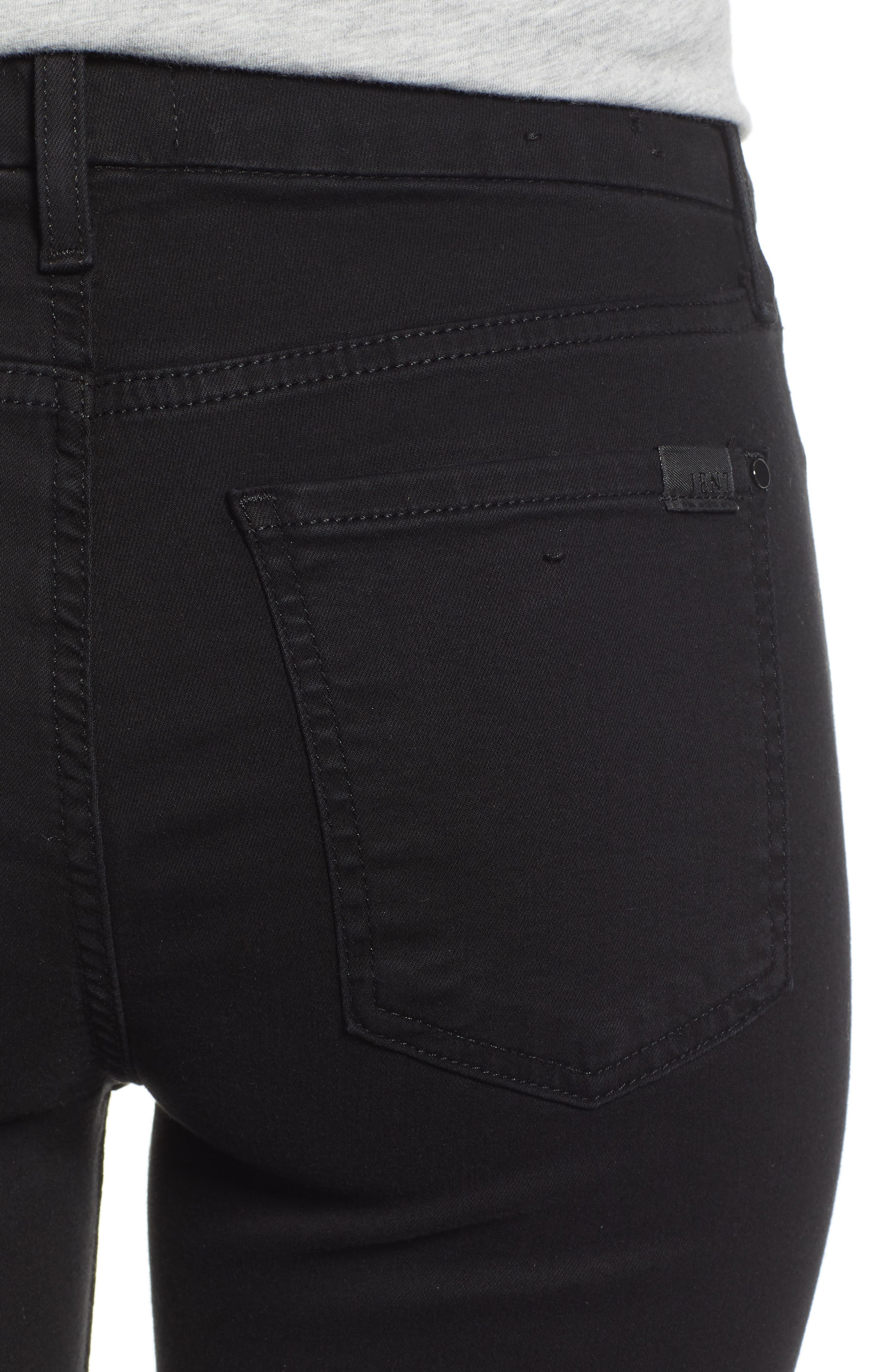 JEN7 BY 7 FOR ALL MANKIND, Skinny Jeans, Alternate thumbnail 5, color, CLASSIC BLACK NOIR