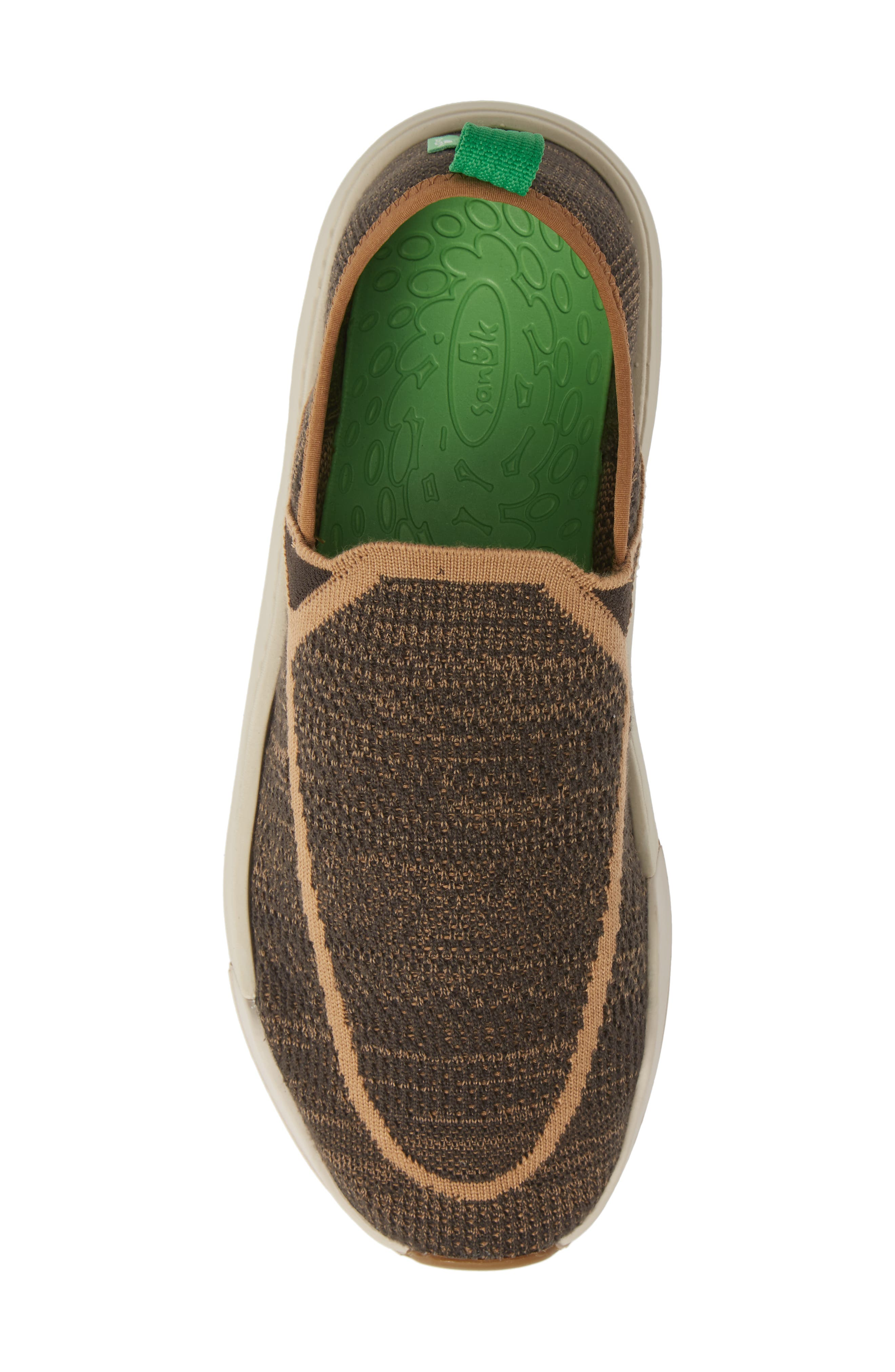 SANUK, Chiba Quest Knit Slip-On Sneaker, Alternate thumbnail 5, color, BROWN NATURAL