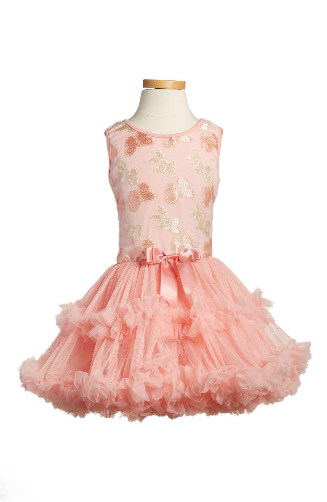 POPATU, 'Butterfly' Sleeveless Party Dress, Main thumbnail 1, color, PEACH
