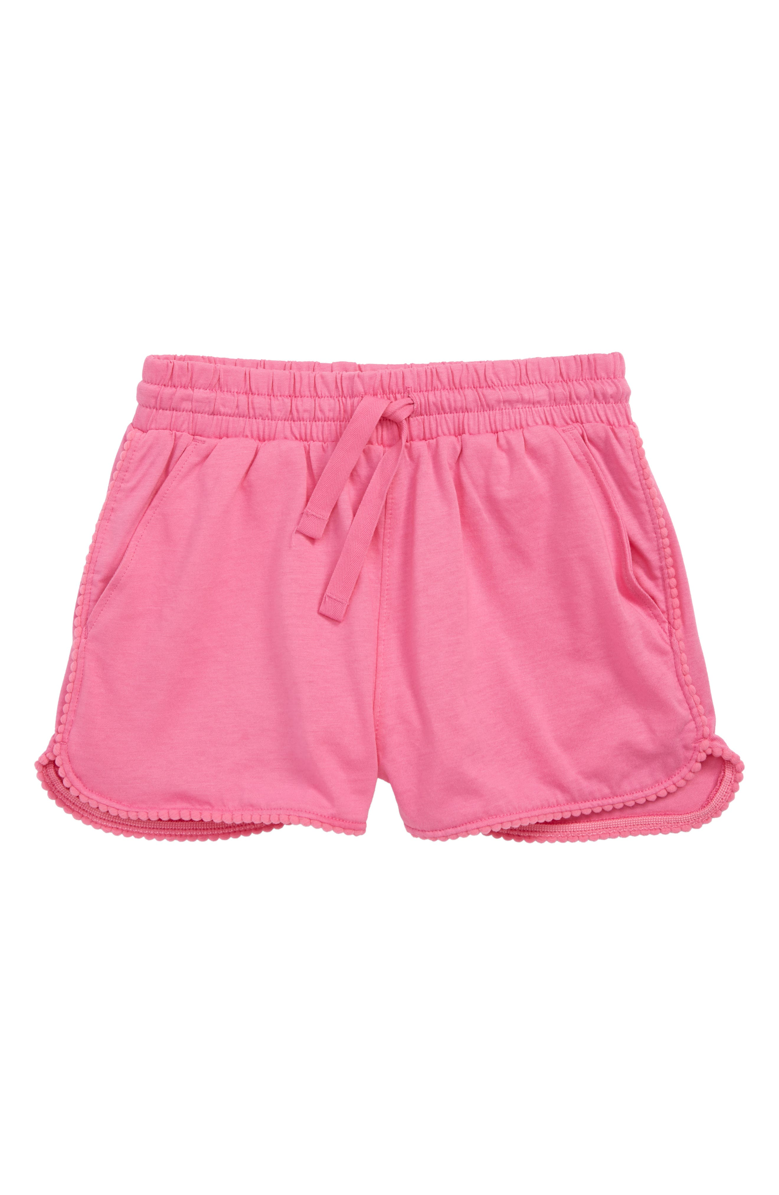 Girls Tea Collection Pom Pom Dolphin Hem Shorts Size 7  Pink